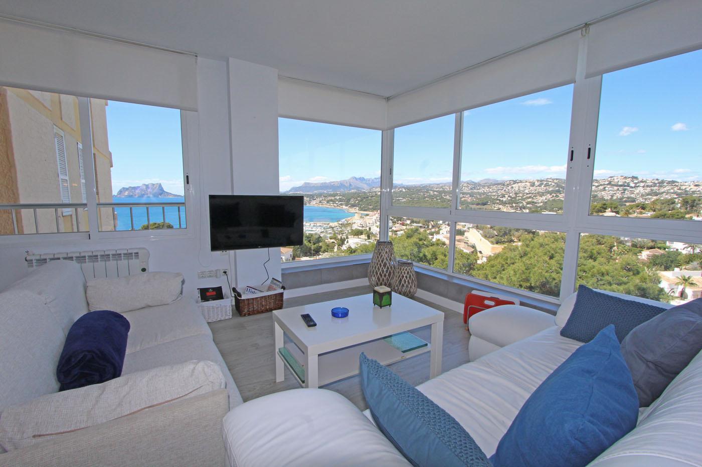 Apartamento Pili,Modern en gezellig appartement in Moraira, aan de Costa Blanca, Spanje voor 3 personen...