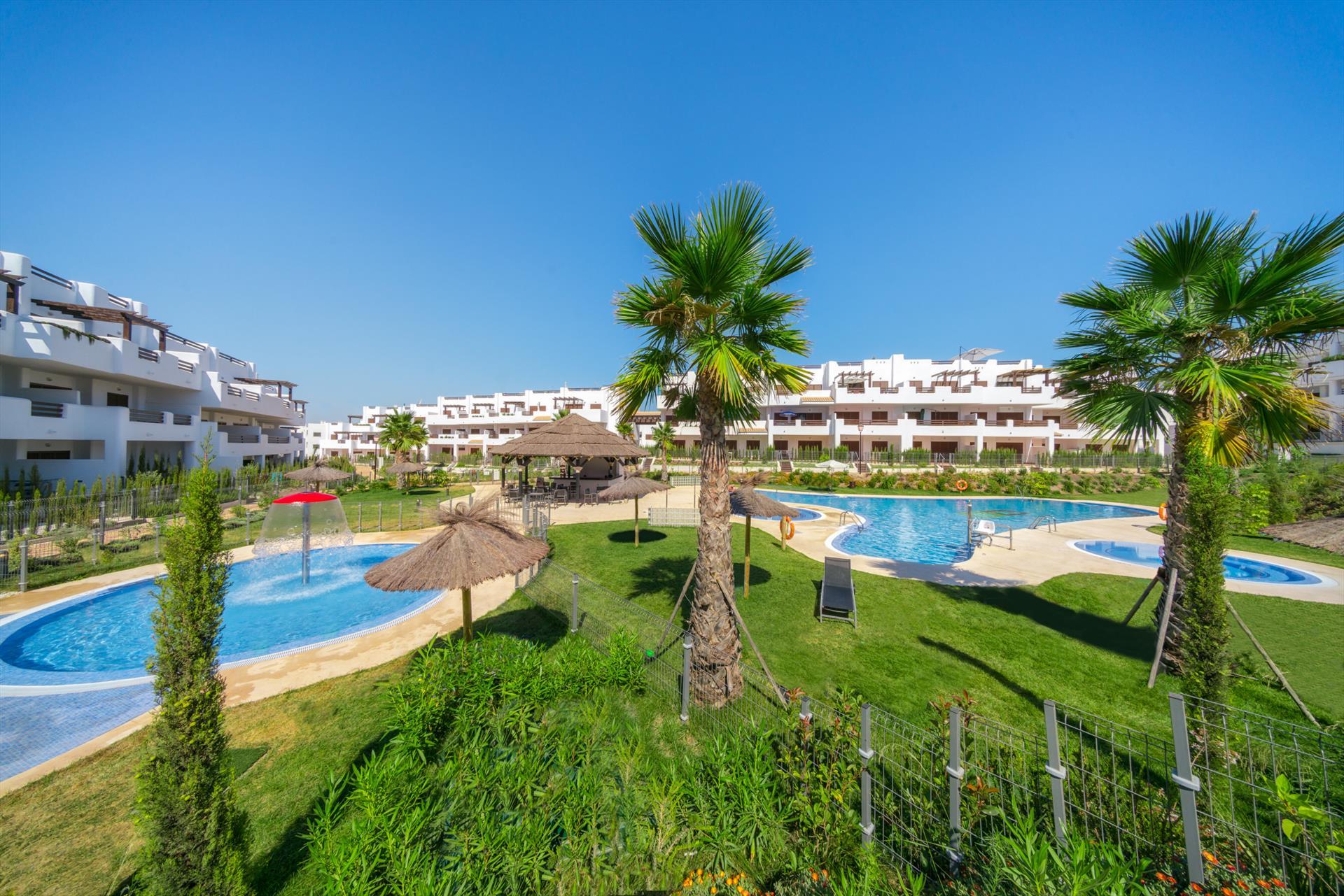 Verde,Wonderful apartment in San Juan de los Terreros, Andalusia, Spain  with communal pool for 4 persons.....