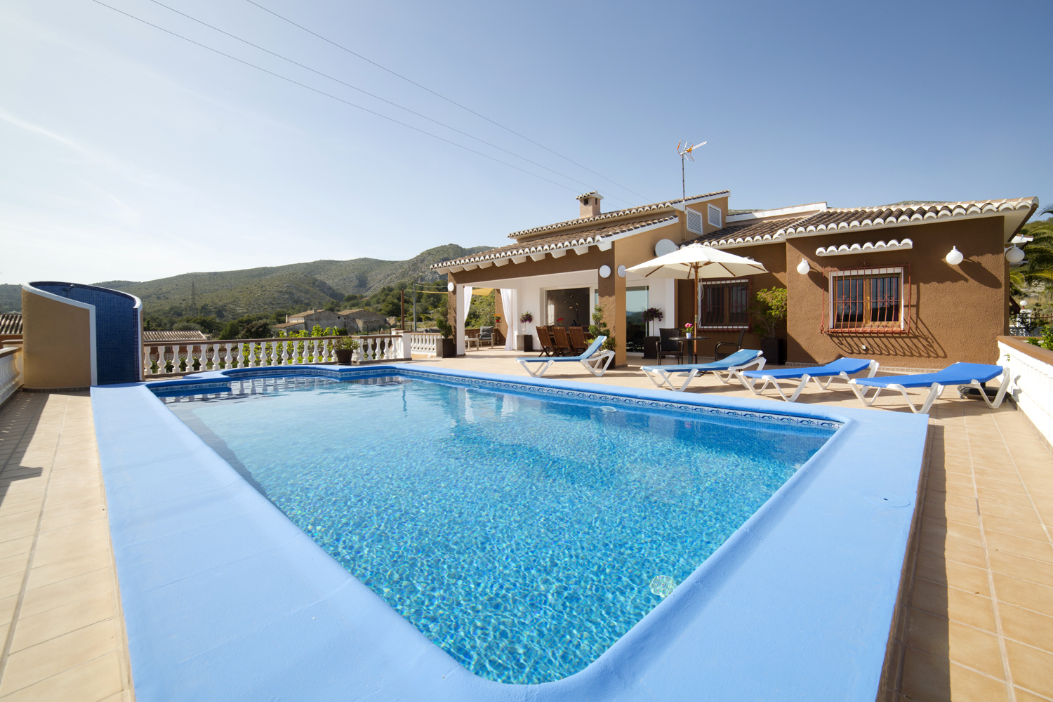 Casa Luci, Large and classic villa  with private pool in Teulada, on the Costa Blanca, Spain for 12 persons...