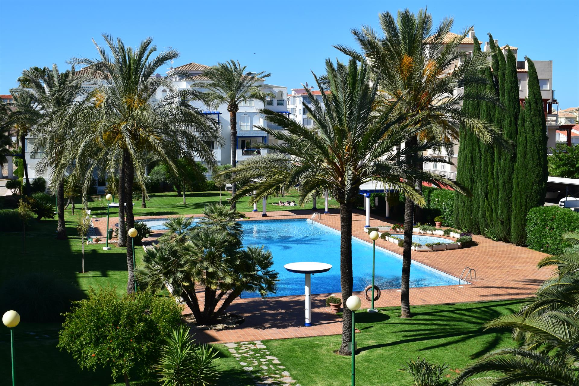 AP1110 Con piscina a 100m de la Playa, Rustic and classic apartment in Denia, on the Costa Blanca, Spain  with communal pool for 4 persons.....
