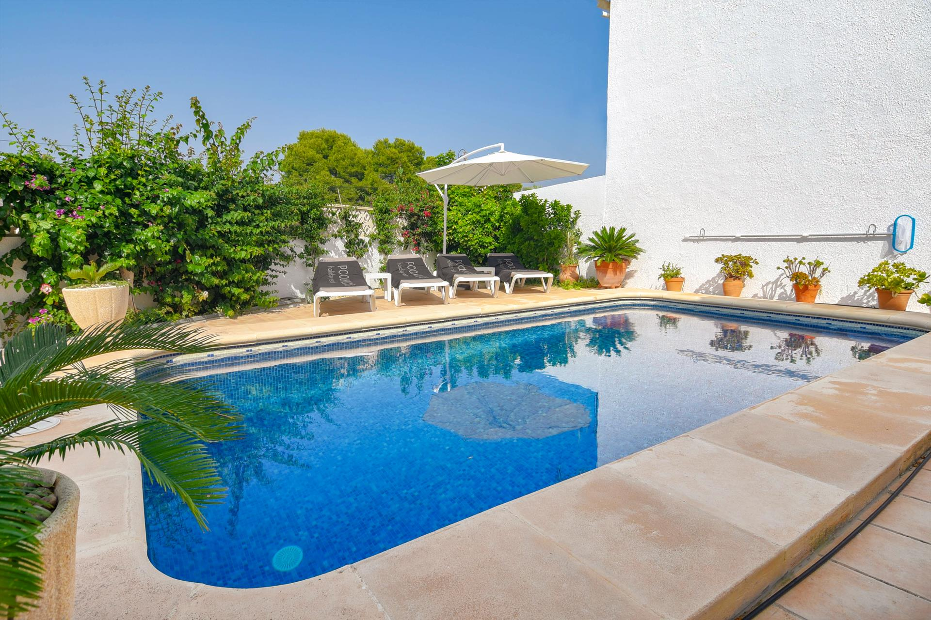 Cisne, Villa in Moraira, on the Costa Blanca, Spain  with private pool for 8 persons.....