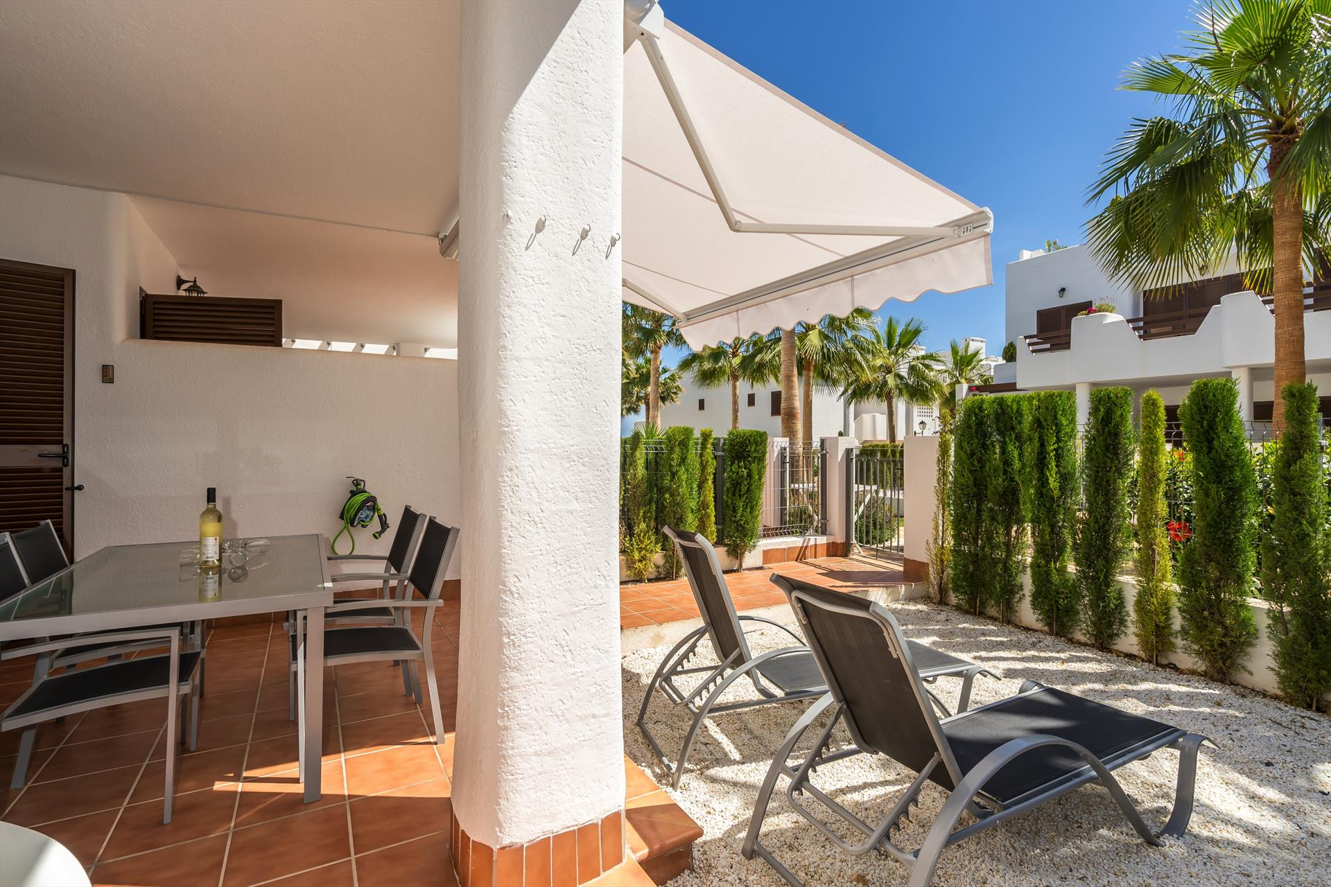 Rosa,Lovely and cheerful apartment in San Juan de los Terreros, Andalusia, Spain  with communal pool for 4 persons.....