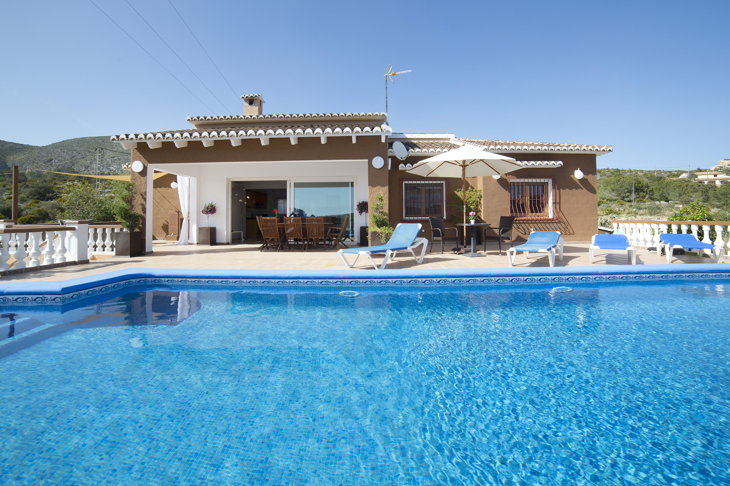 Casa Luci 6 pax, Large and classic villa in Teulada, on the Costa Blanca, Spain  with private pool for 6 persons.....