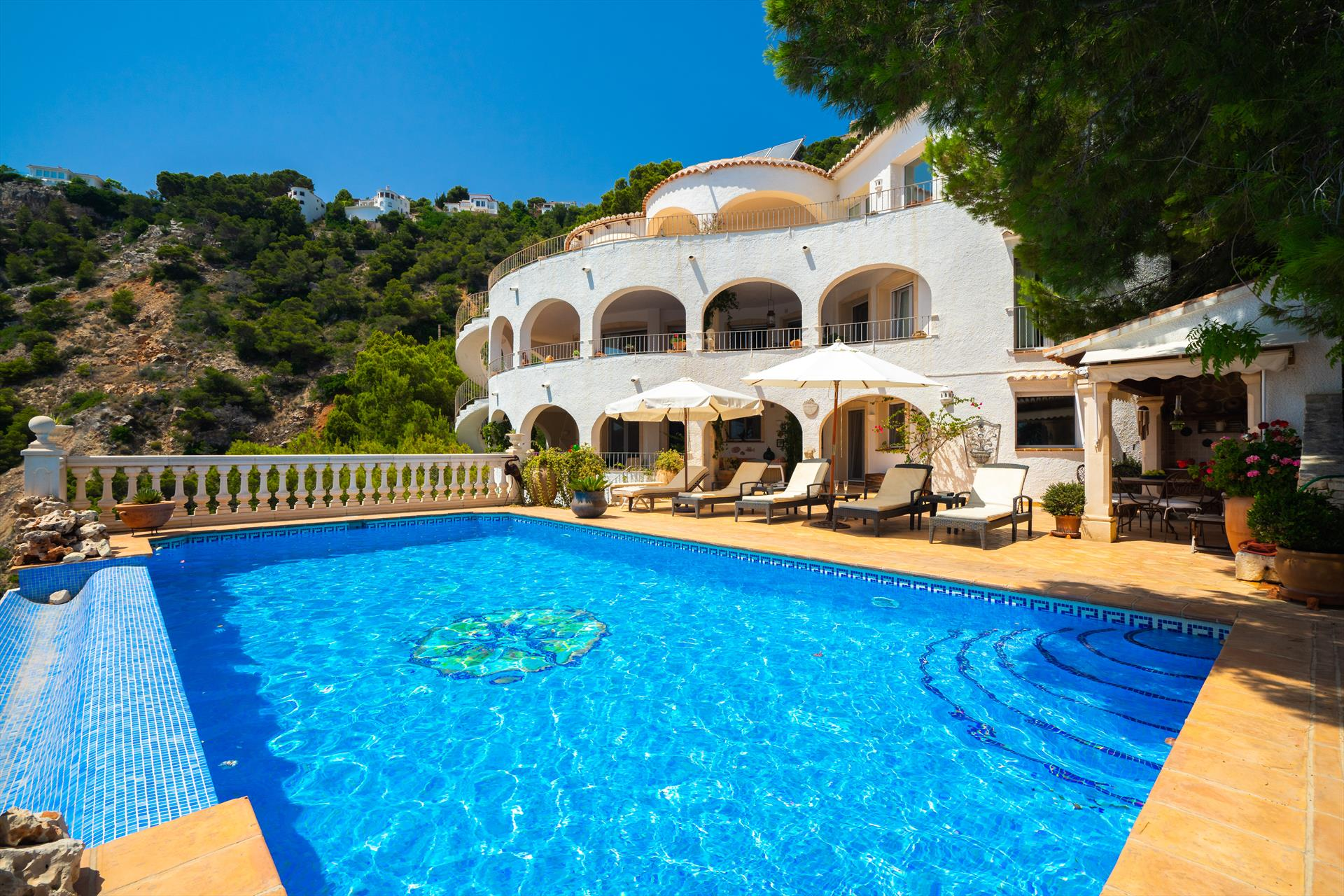 El Paraiso, Large and classic villa in Javea, on the Costa Blanca, Spain  with private pool for 14 persons.....
