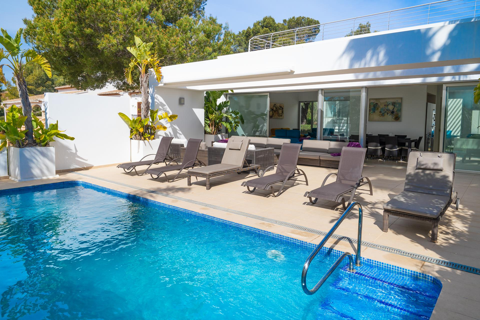 Casa Elche 6 pax, Modern and nice villa in Javea, on the Costa Blanca, Spain  with heated pool for 6 persons.....