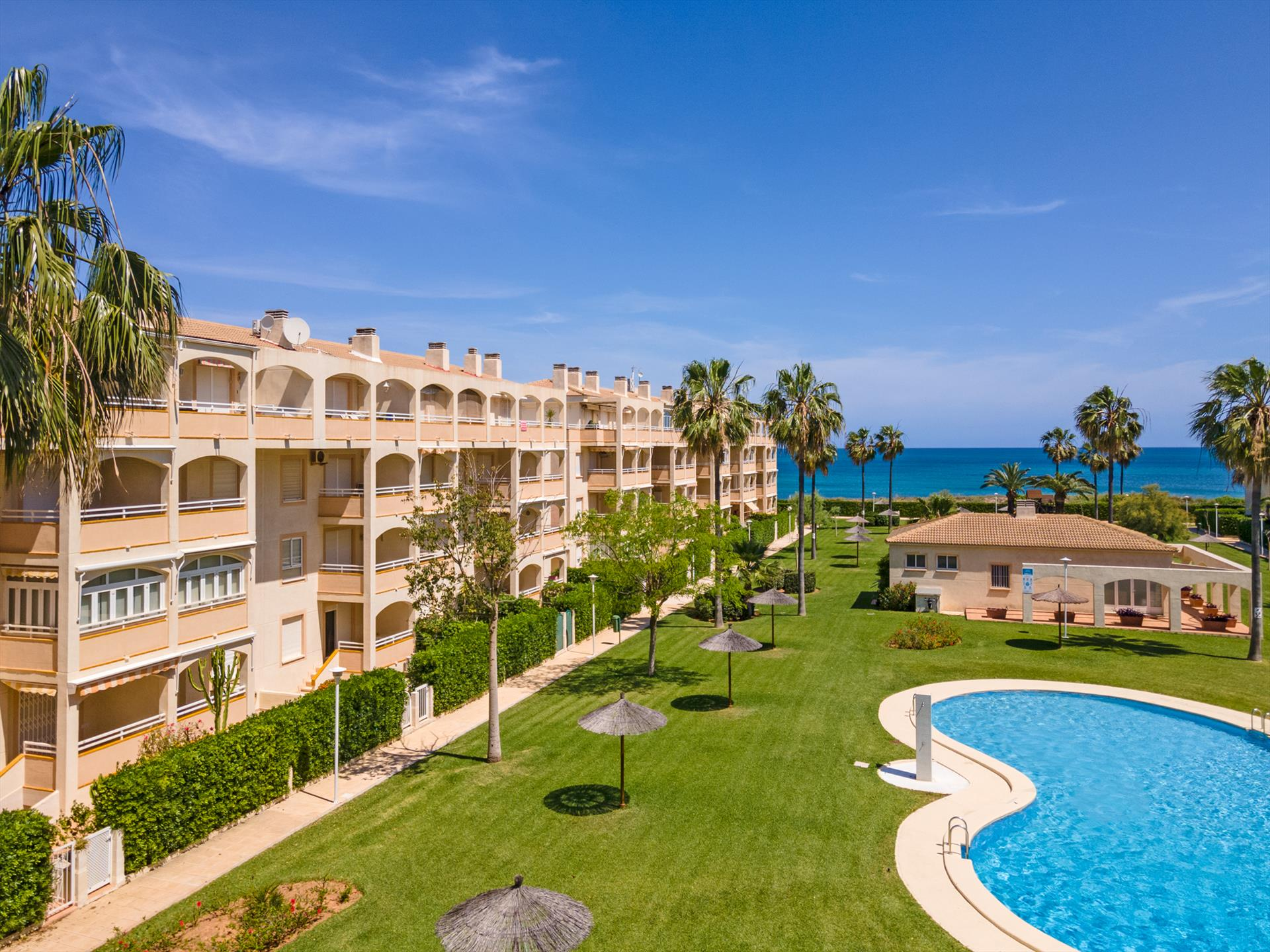 AP2102 Bahia de Denia Las Marinas, Beautiful and comfortable apartment  with communal pool in Denia, on the Costa Blanca, Spain for 6 persons.....