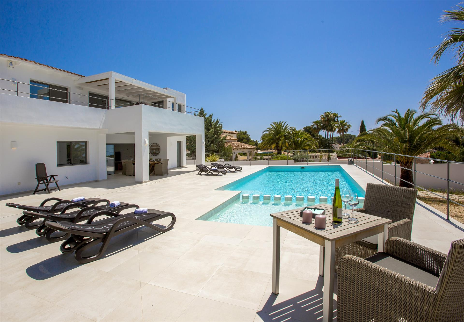 La Famisol, Luxury villa in Moraira, on the Costa Blanca, Spain  with private pool for 6 persons.....
