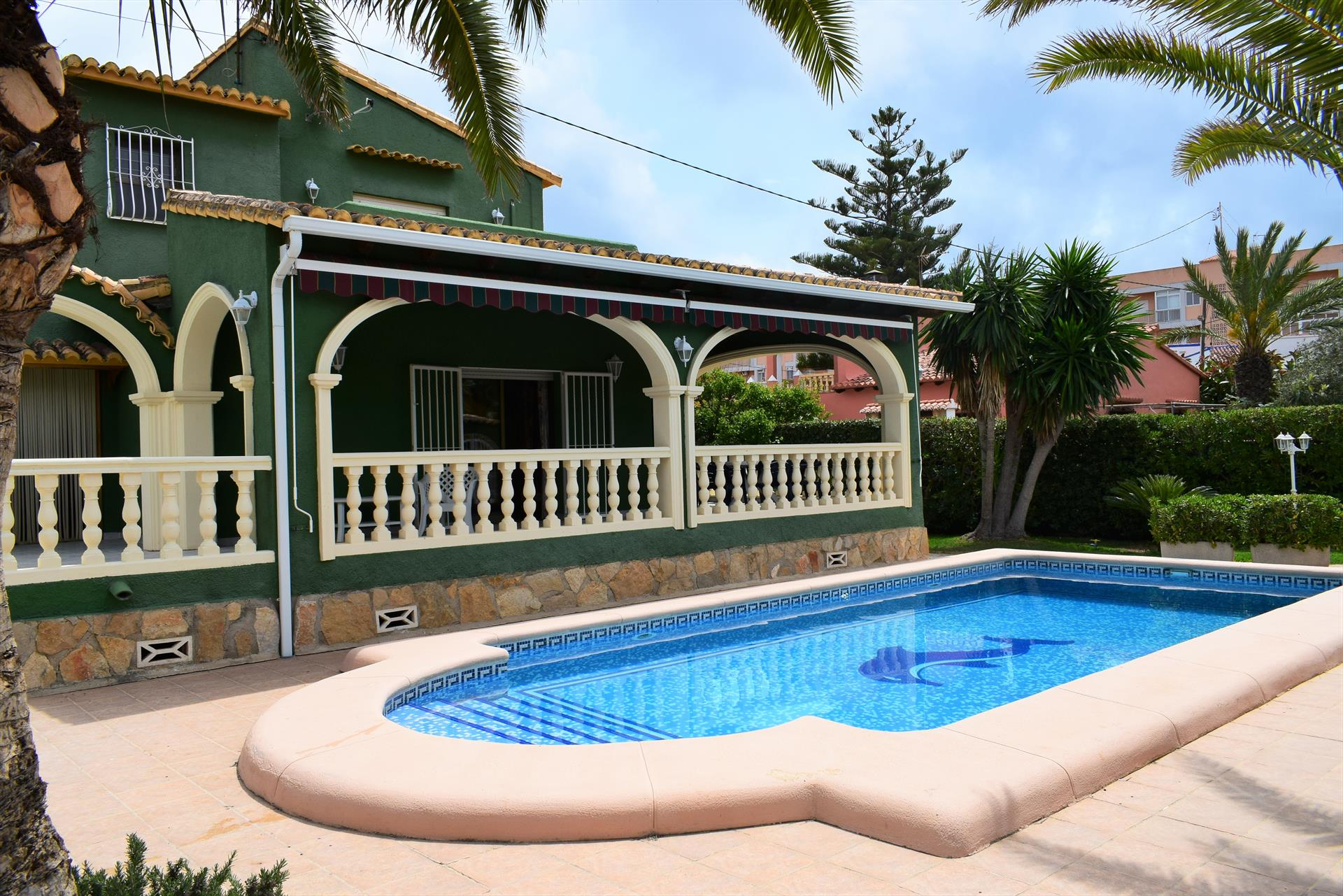 CH1055 Zona Deveses 8 personas piscina, Classic and nice holiday house  with private pool in Denia, on the Costa Blanca, Spain for 8 persons.....