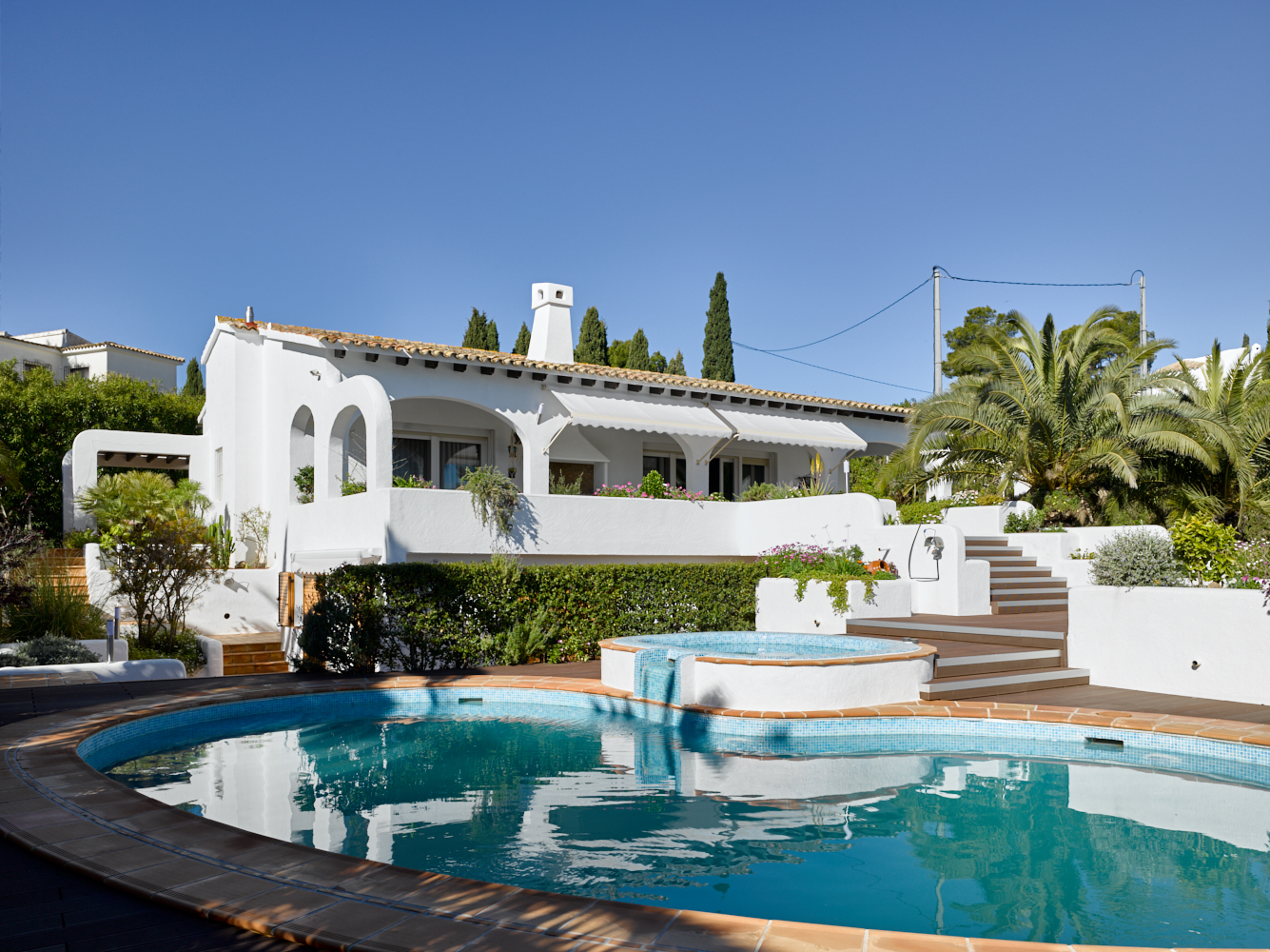 Villa pomera,Mooie en luxe villa in Benissa, aan de Costa Blanca, Spanje  met privé zwembad voor 5 personen...