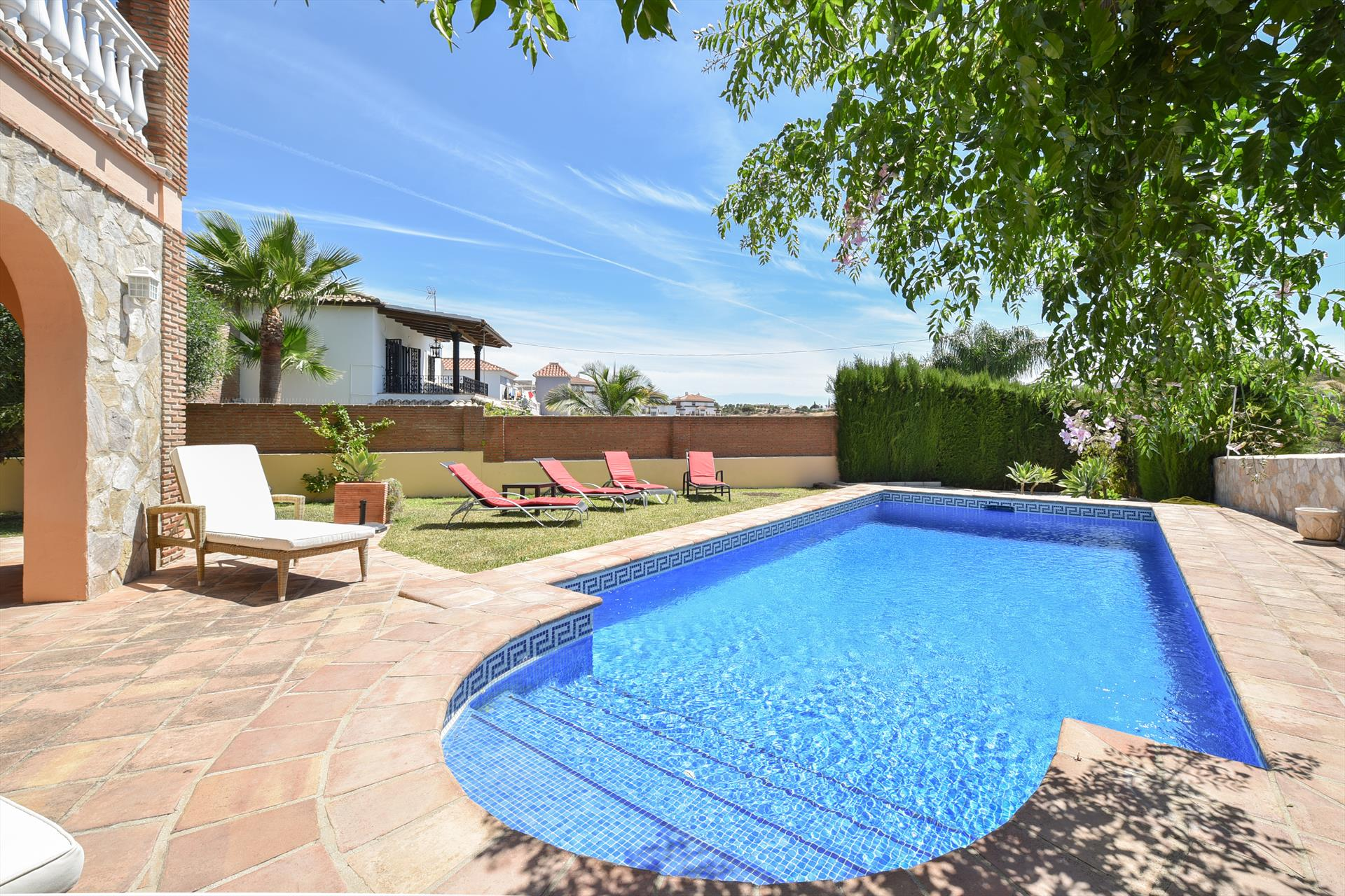 Casa Arroyo Real, Grosse und komfortable Villa  mit privatem Pool in Mijas costa, in Andalusien, Spanien für 10 Personen.....