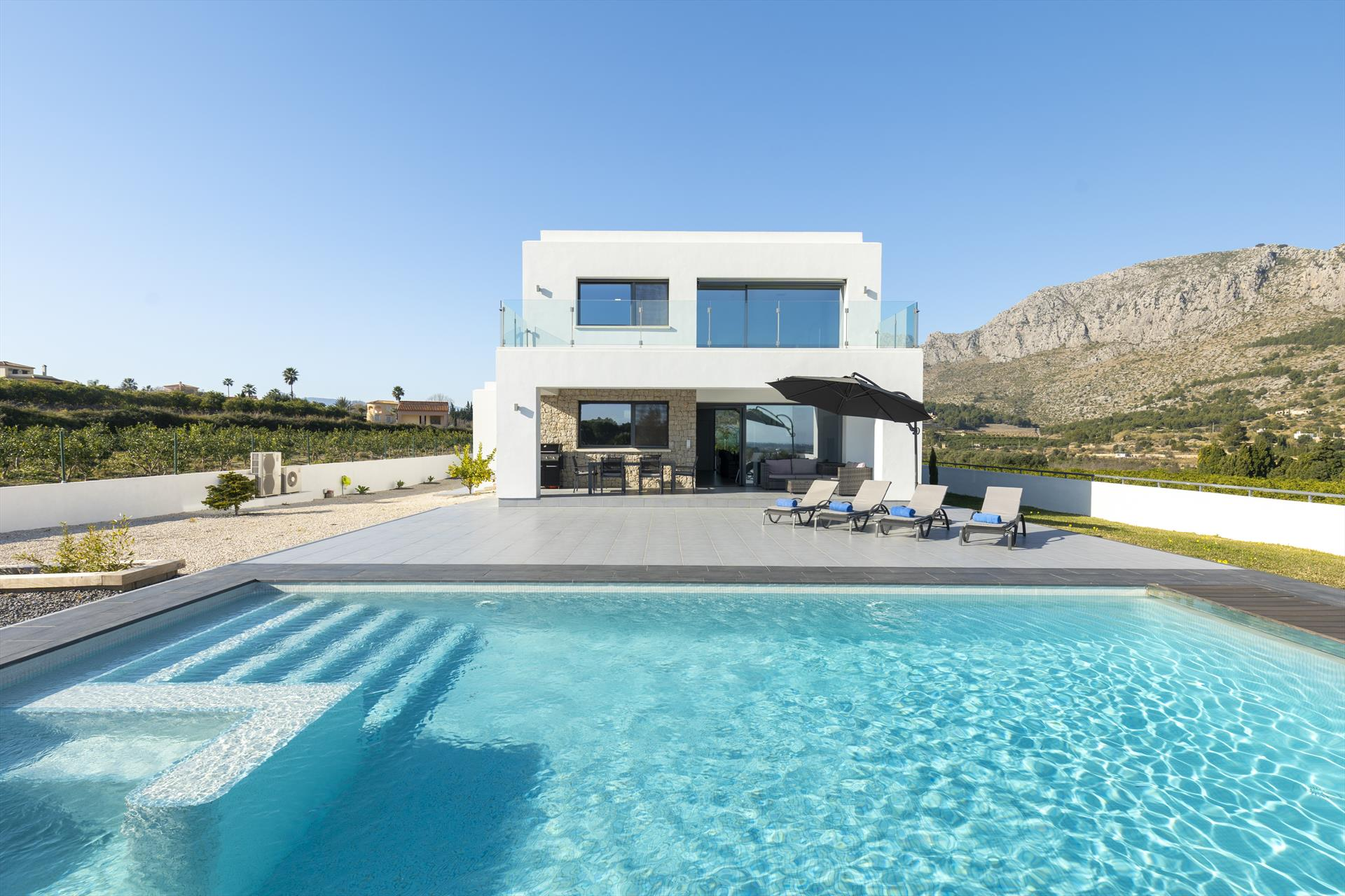 Villa Azahar, Modern and comfortable villa in Denia, on the Costa Blanca, Spain with private pool for 8-10 persons. The house is situated.....