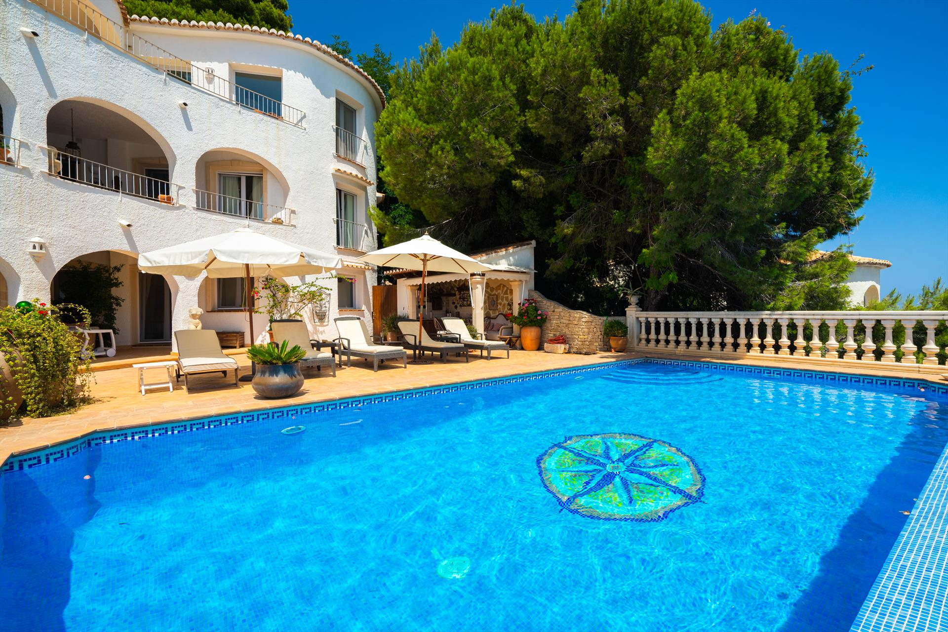 El Paraiso 12 pax, Large and classic villa in Javea, on the Costa Blanca, Spain  with private pool for 12 persons...