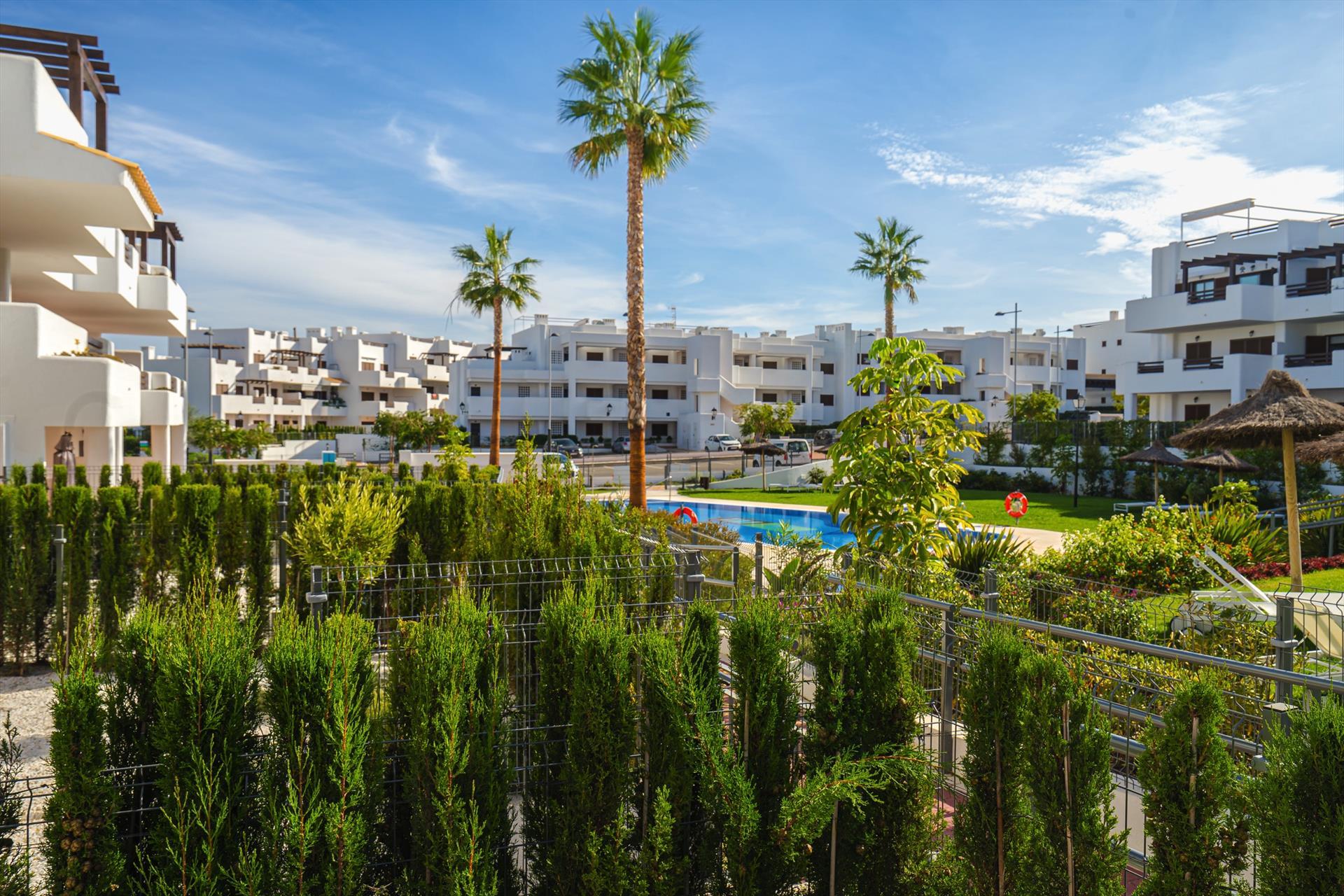 Calypso,Beautiful apartment in San Juan de los Terreros, Andalusia, Spain  with communal pool for 5 persons.....