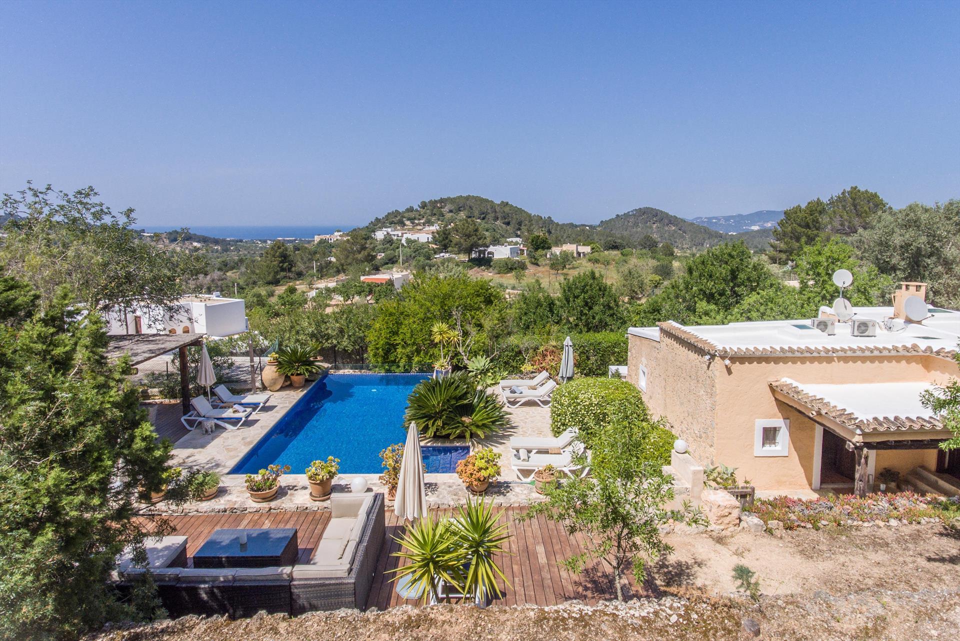 La Fruta,Villa in Sant Agusti, Ibiza, Spain  with private pool for 10 persons...
