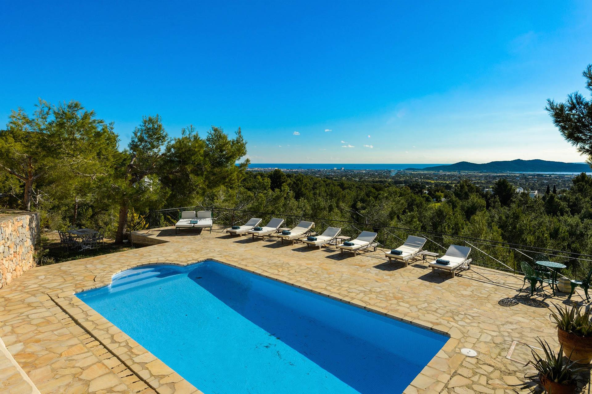 Sa Barra, Rustic and cheerful villa in San Jose, Ibiza, Spain  with private pool for 8 persons...