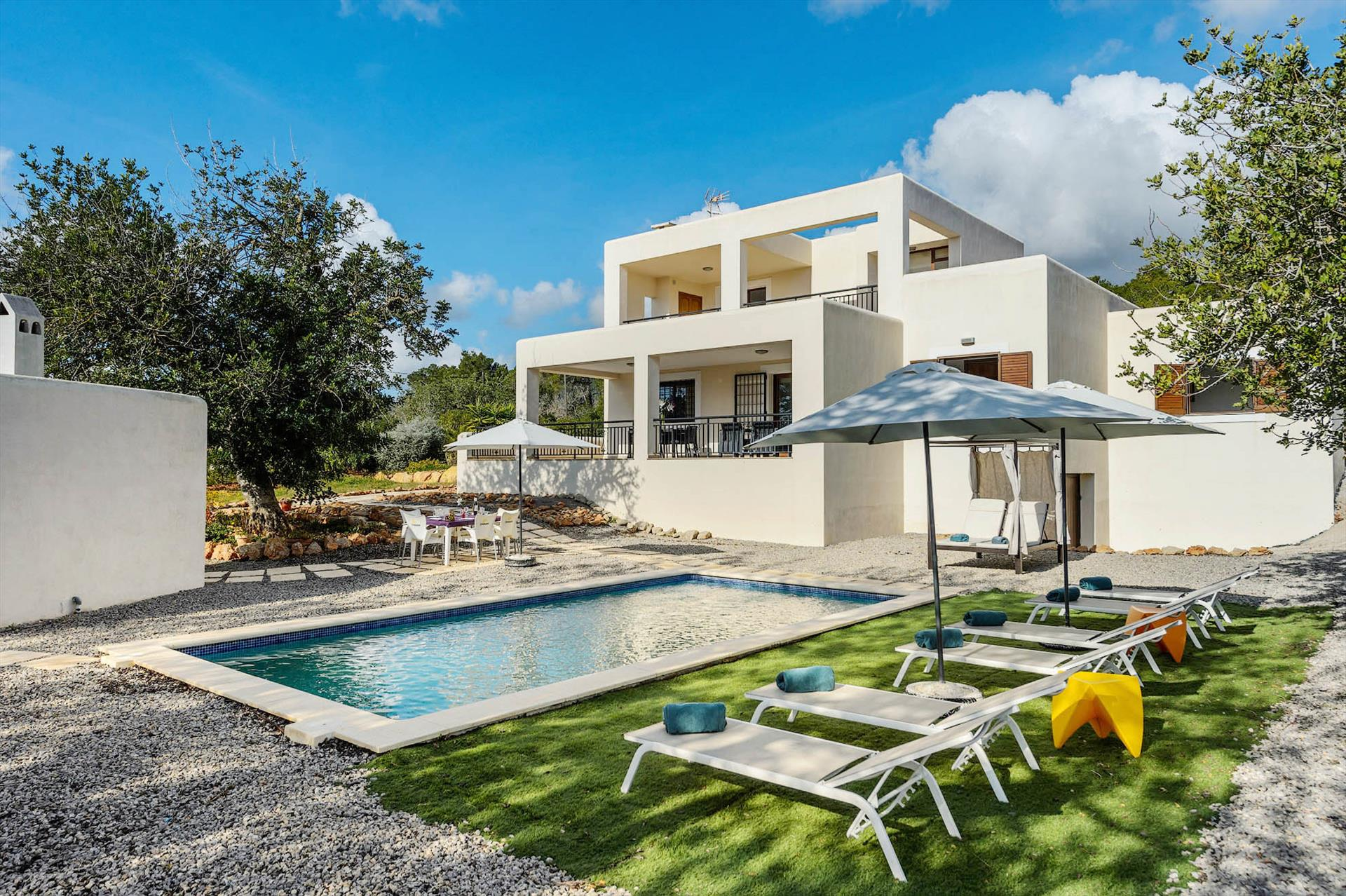 White Water, Villa  with private pool in San Carlos, Ibiza, Spain for 6 persons...