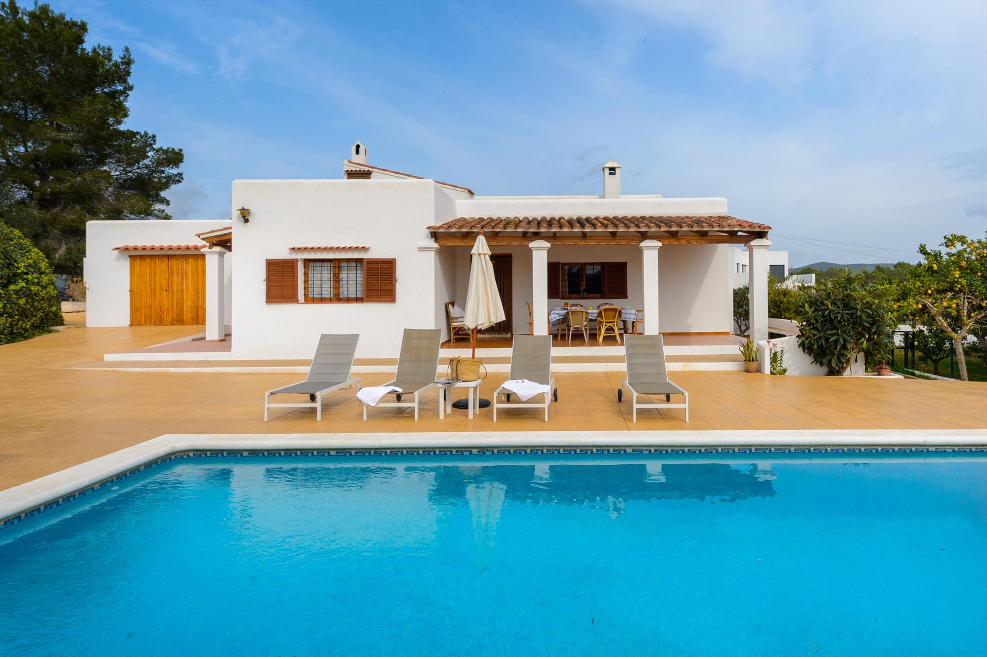 Juana, Villa in Santa Eulalia, Ibiza, Spain  with private pool for 6 persons...