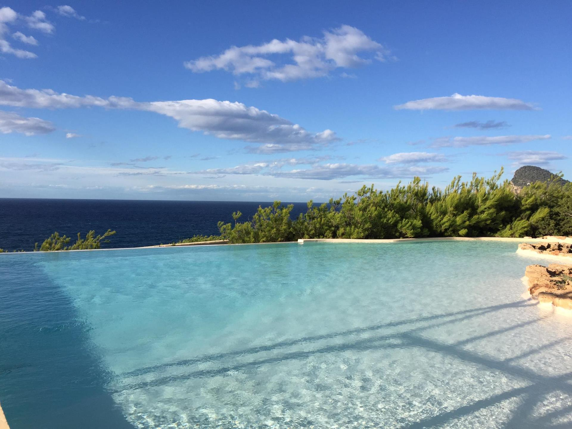 Clot, Villa in Cala Gració, Ibiza, Spain  with private pool for 6 persons...