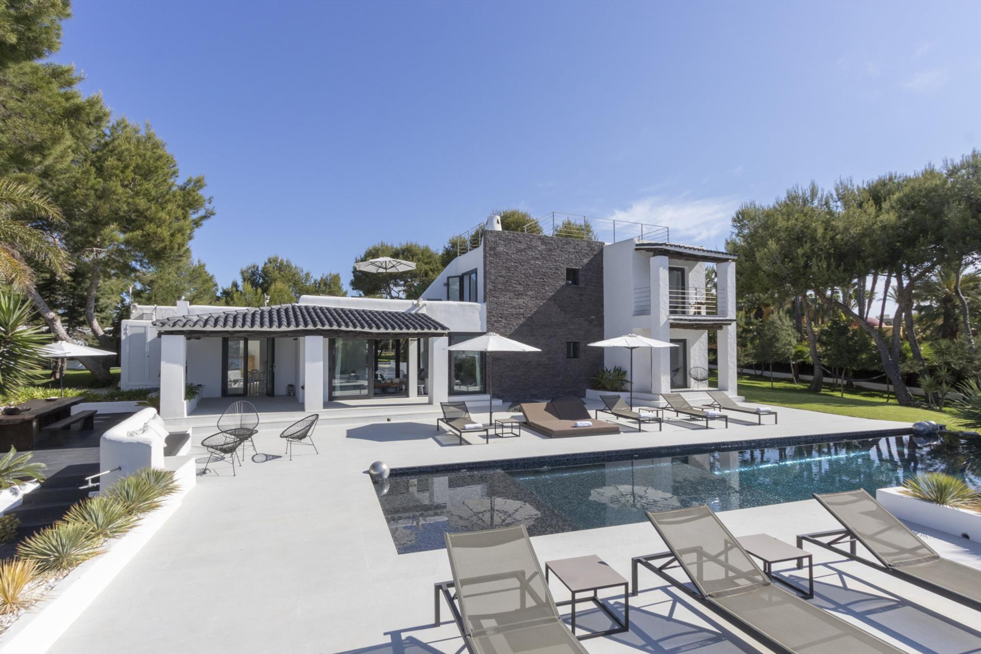 Can Char, Luxury villa in Cala Codolar, Ibiza, Spain  with private pool for 12 persons...