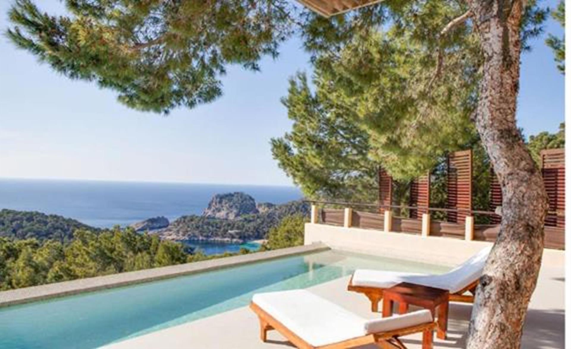 Minta, Villa in Cala Salada, Ibiza, Spain  with private pool for 8 persons...