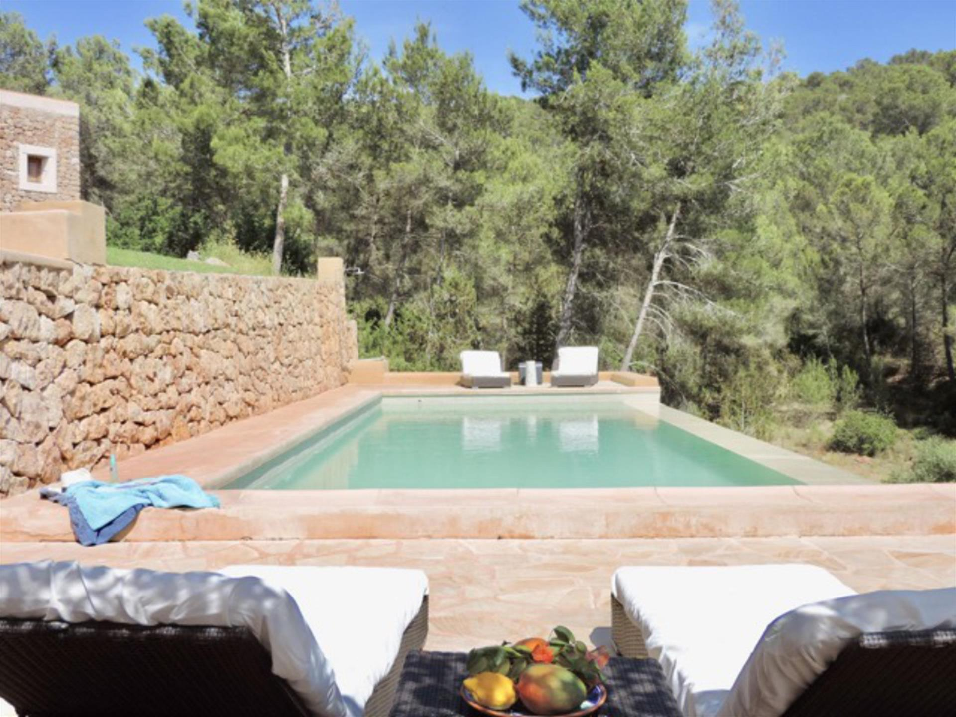 Ram, Rustic and comfortable villa  with private pool in Santa Gertrudis, Ibiza, Spain for 8 persons...