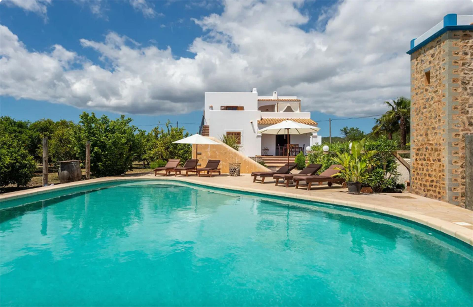 Villa Musseta, Villa in Ibiza, Ibiza, Spain  with private pool for 8 persons...