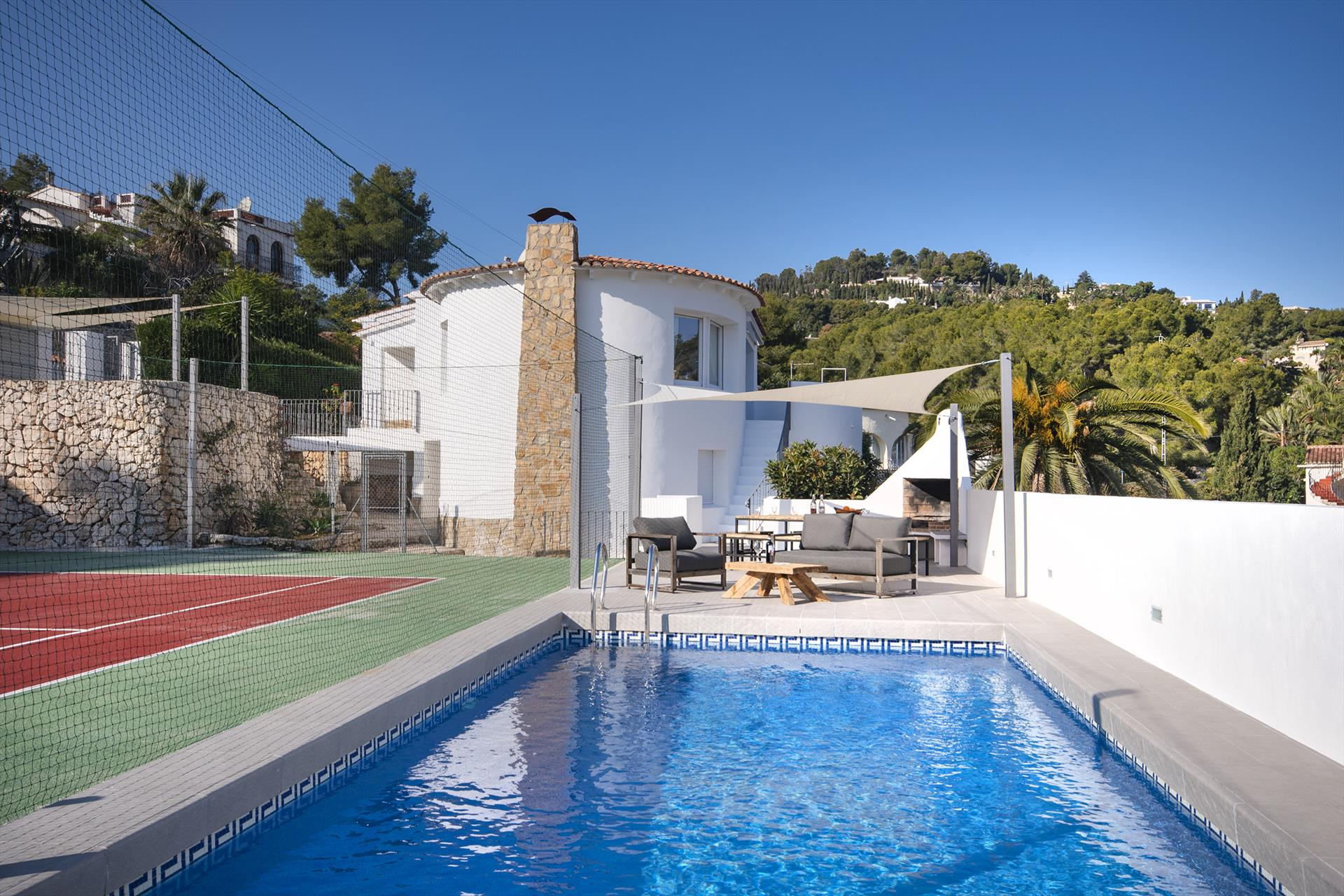 Sara 10, Modern and cheerful villa  with private pool in Benissa, on the Costa Blanca, Spain for 10 persons.....