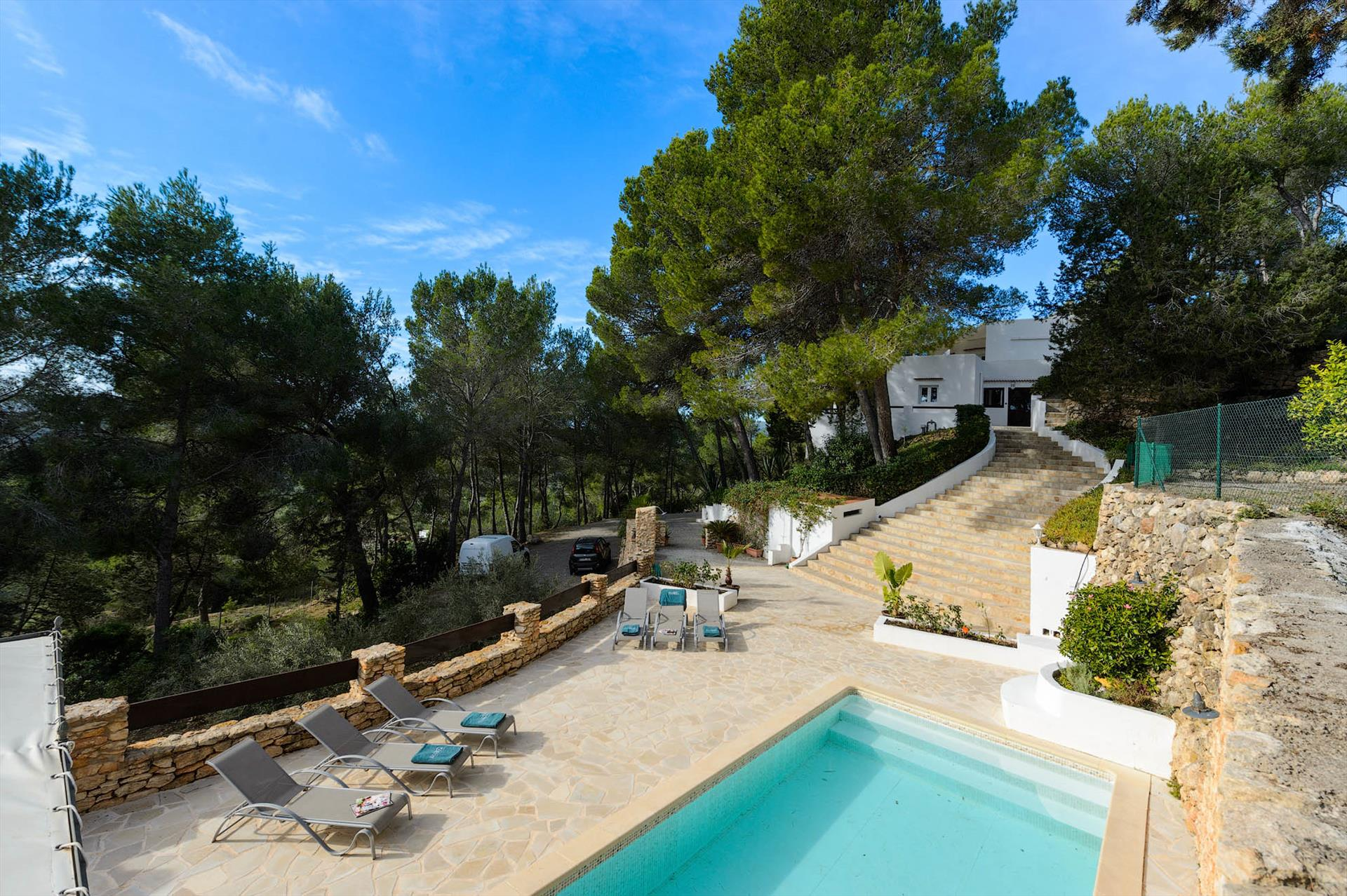 Spring, Villa in San Carlos, Ibiza, Spain  with private pool for 8 persons...