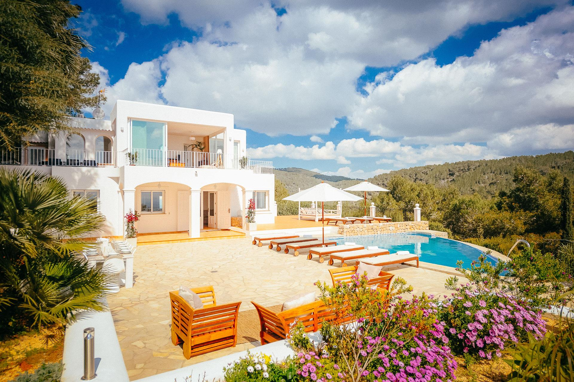 Can Hermosa, Villa in San Jose, Ibiza, Spain  with private pool for 10 persons...