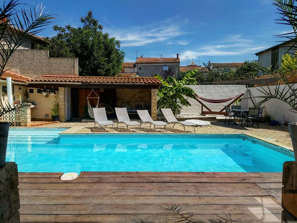Shangri la, Villa in Sauvian, Languedoc-Roussillon, France  with heated pool for 6 persons...