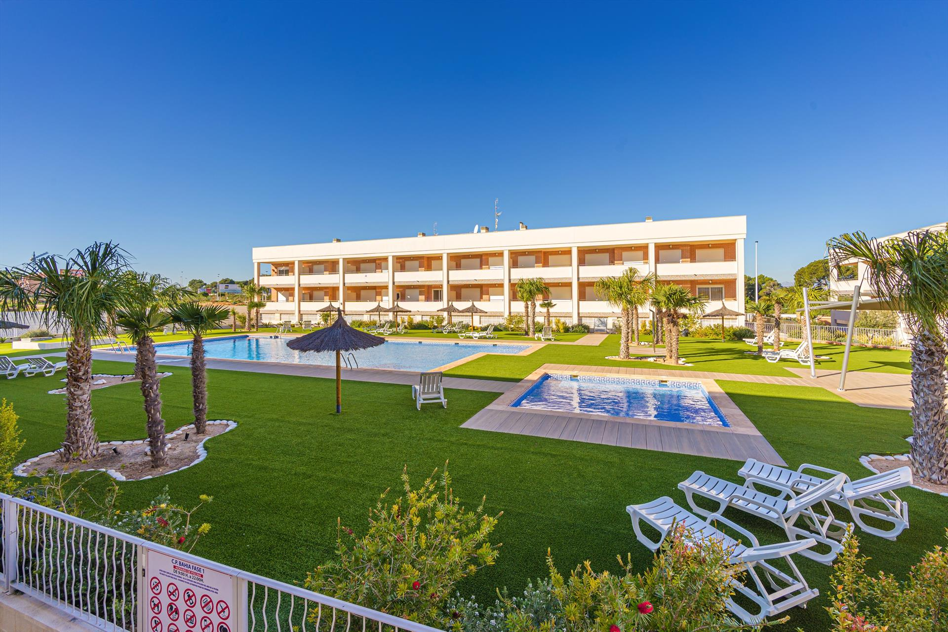 Bahia, Classic apartment in Santa Pola, on the Costa Blanca, Spain  with communal pool for 4 persons.....