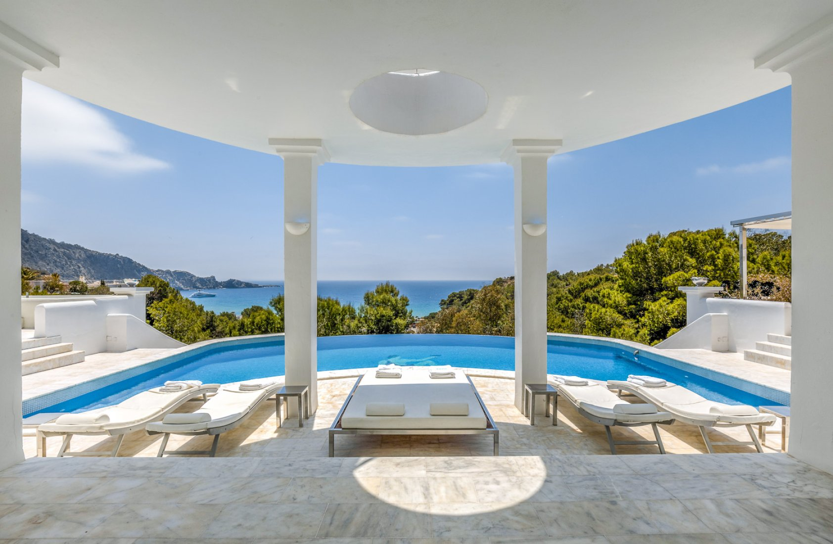 Villa White, Luxury villa in San Jose, Ibiza, Spain  with heated pool for 10 persons...