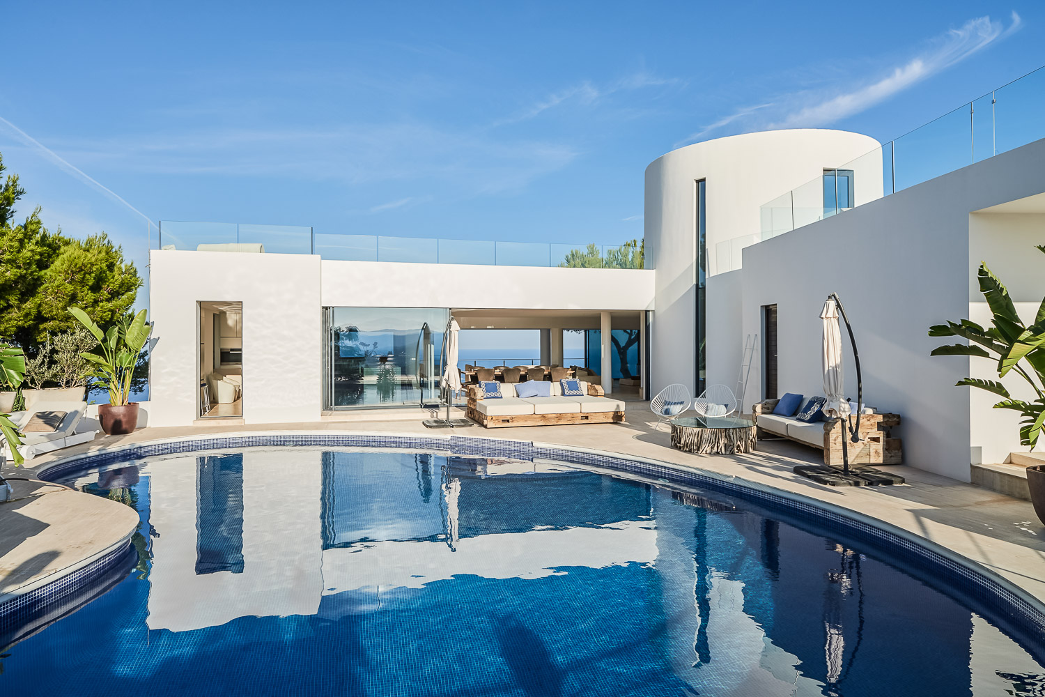 La Tusa, Wonderful and luxury villa  with private pool in San Miguel, Ibiza, Spain for 10 persons...