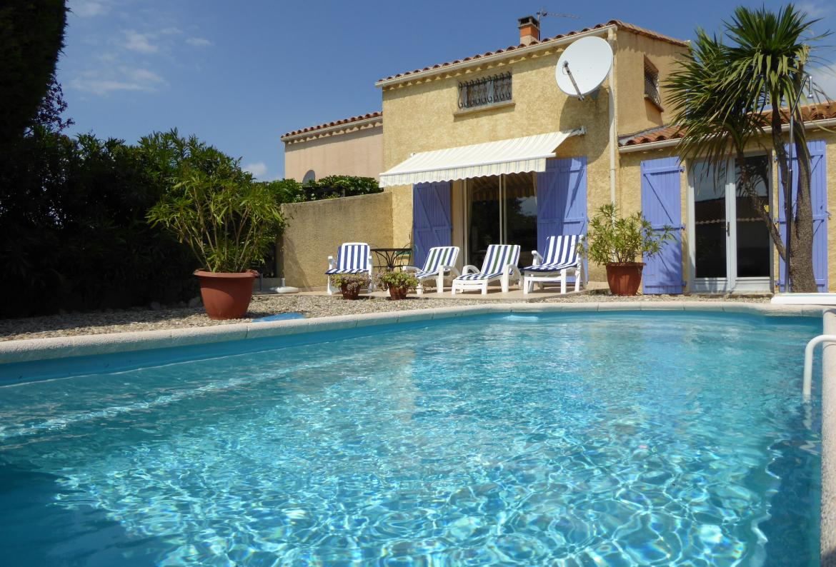 Maison belle de mai, Lovely and comfortable villa  with private pool in Marseillan Plage, Languedoc-Roussillon, France for 6 persons...