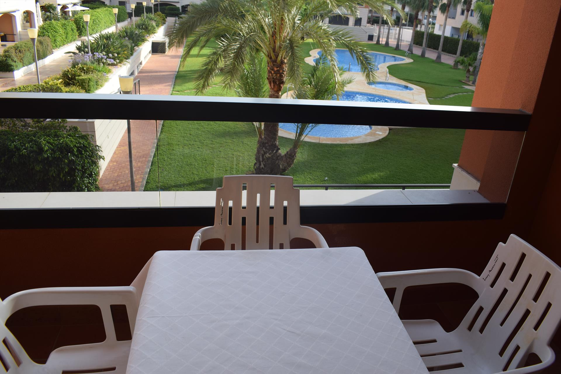 AP1114 Jardines de las Marinas, Modern and comfortable apartment  with communal pool in Denia, on the Costa Blanca, Spain for 3 persons.....