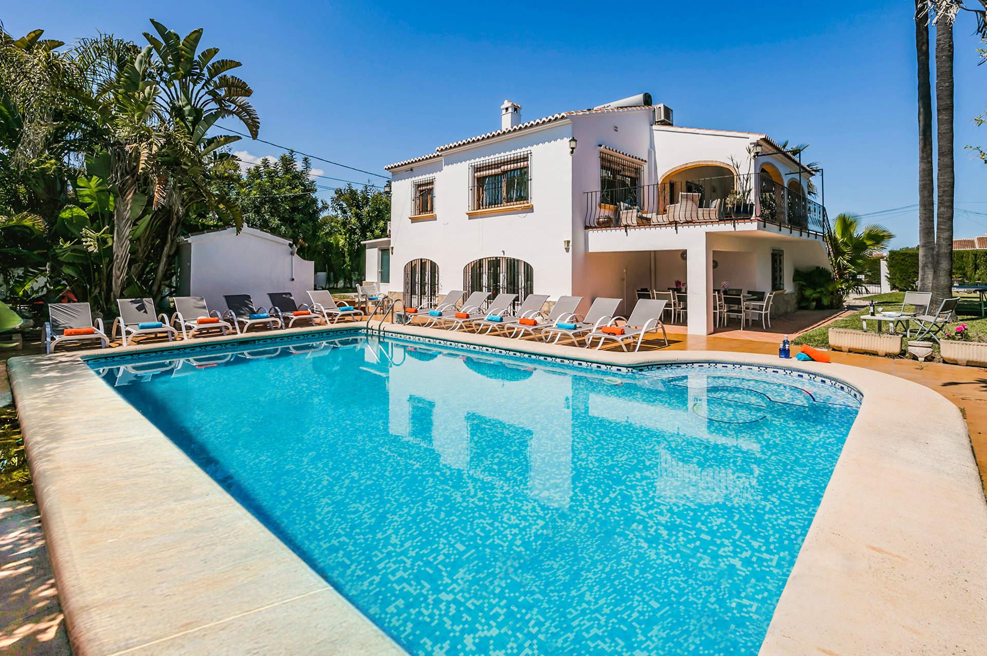 Florneu, Large and nice villa  with private pool in Javea, on the Costa Blanca, Spain for 14 persons...