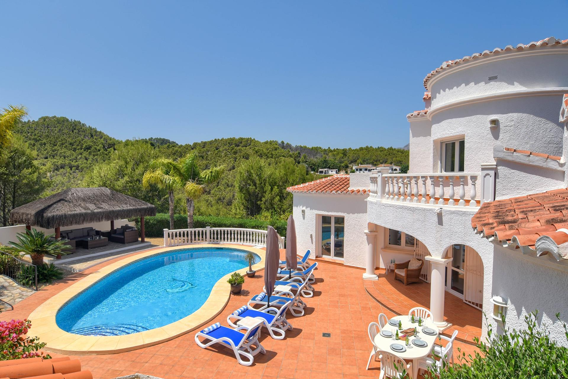 Codorniz, Beautiful and comfortable villa  with private pool in Javea, on the Costa Blanca, Spain for 6 persons.....