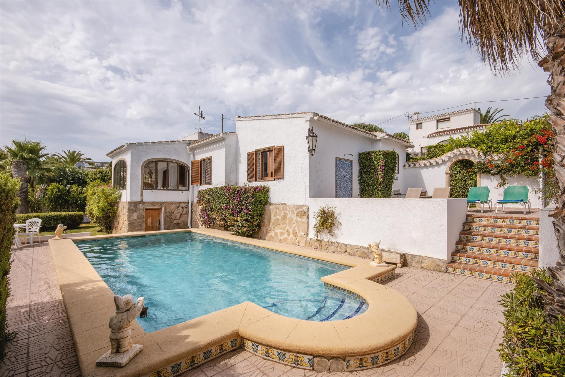 Rustica,Rustikale und klassische Villa  mit privatem Pool in Javea, an der Costa Blanca, Spanien für 6 Personen...