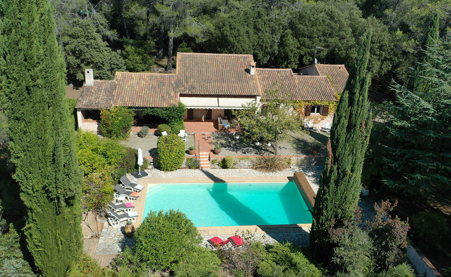 Mas de charles, Cheerful villa in Lorgues, in the Provence, France  with private pool for 10 persons...