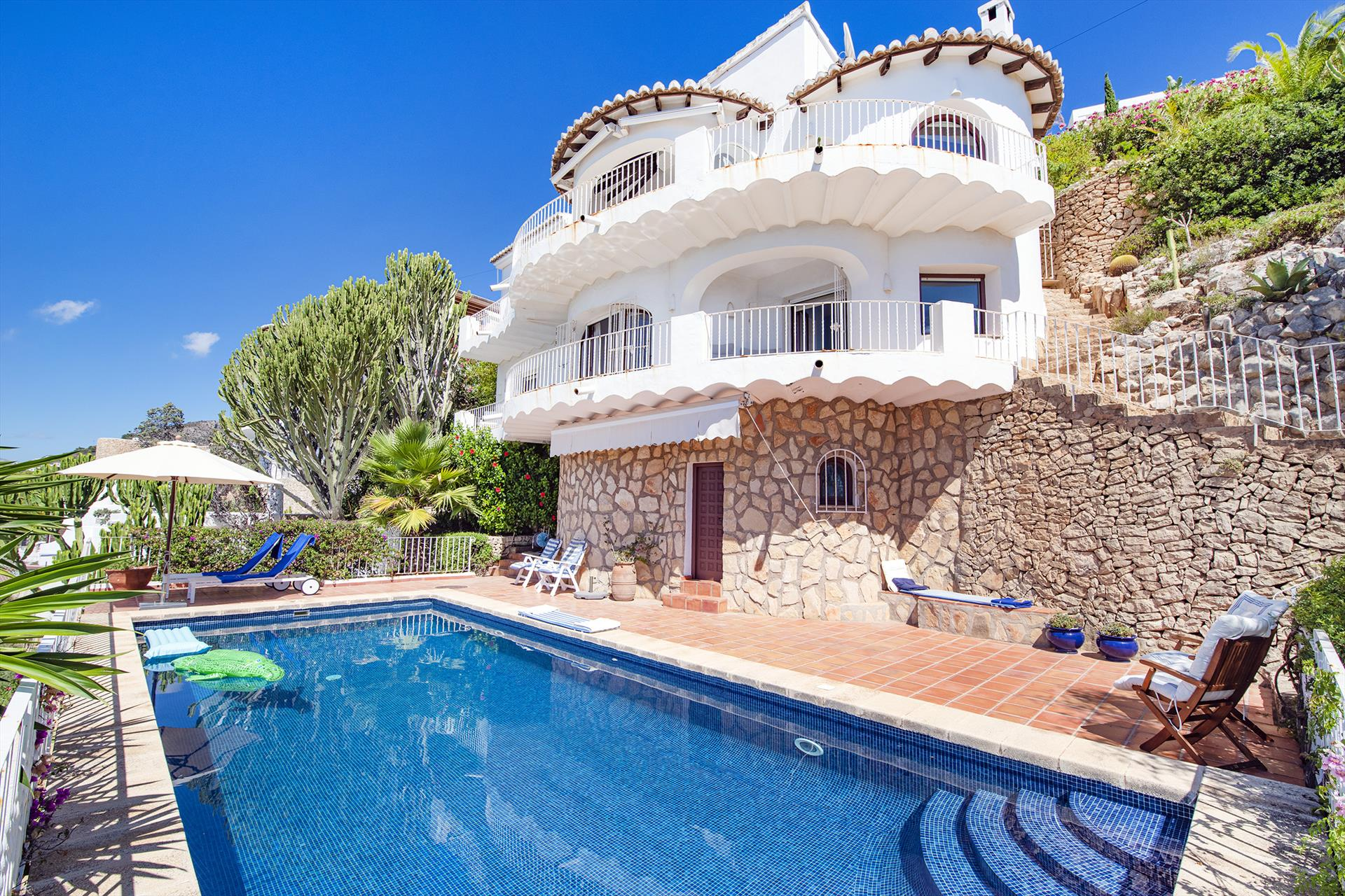 Cap d Or, Wonderful and romantic villa  with private pool in Moraira, on the Costa Blanca, Spain for 6 persons.....