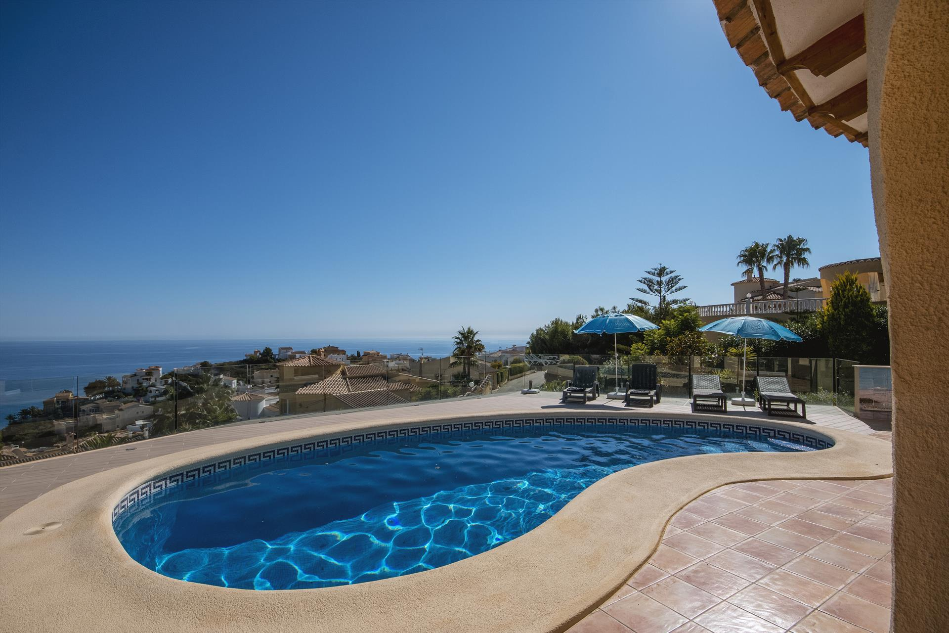 Carrevegas 6 pax, Large and nice villa in Benitachell, on the Costa Blanca, Spain  with private pool for 6 persons.....