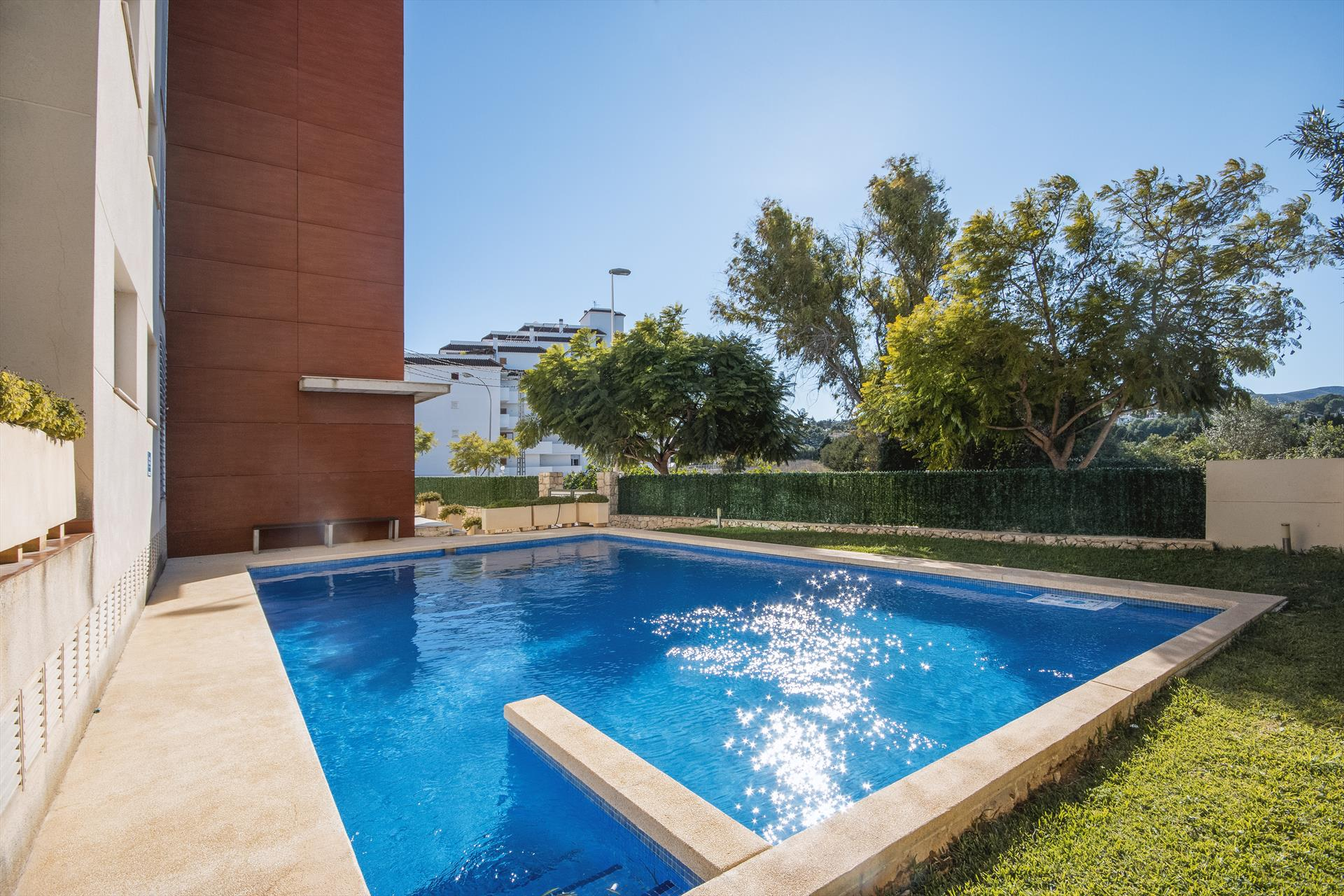 Kiale,Wonderful and cheerful apartment in Javea, on the Costa Blanca, Spain  with communal pool for 6 persons...