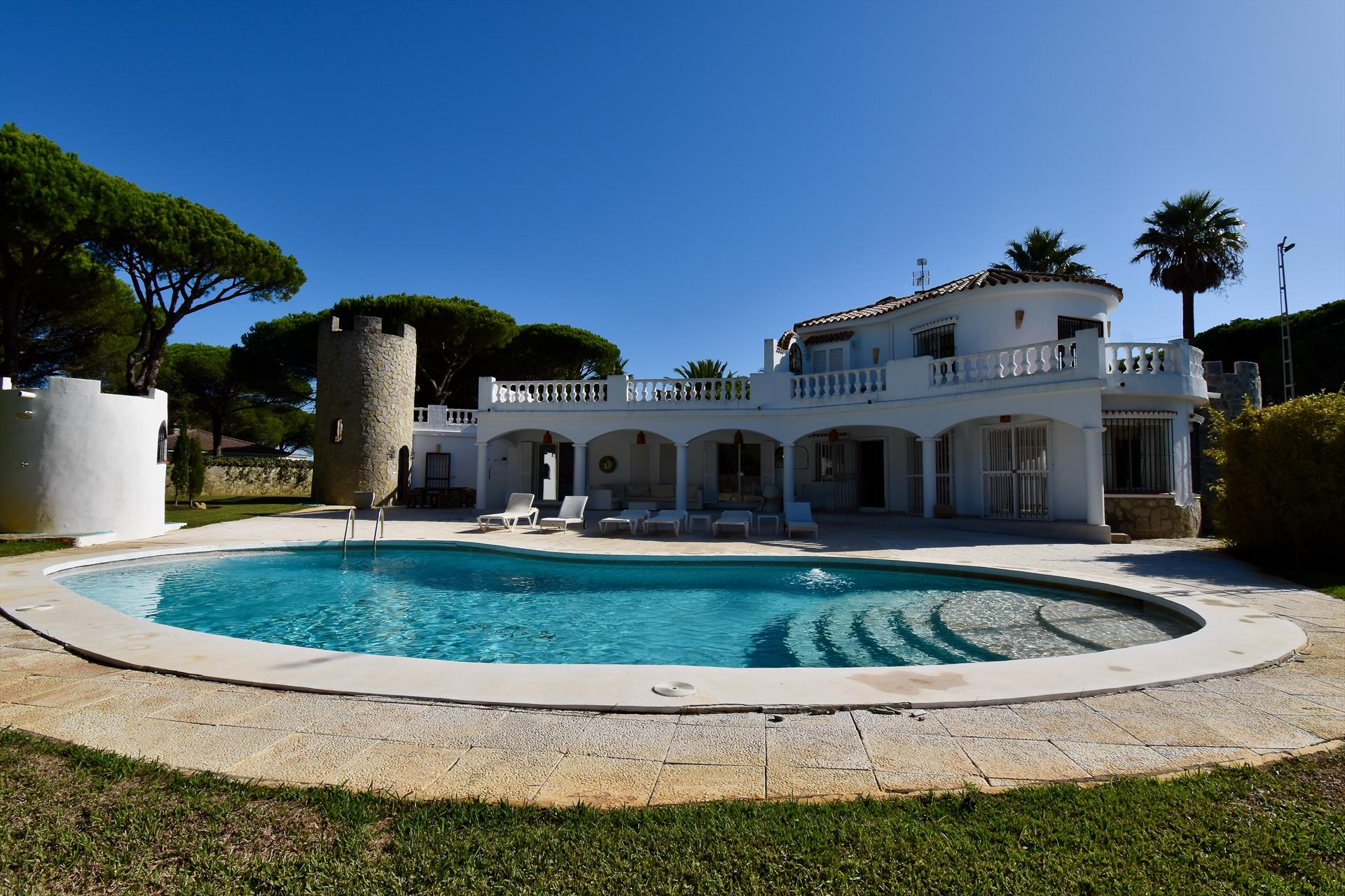 The Villa, Beautiful and luxury villa  with private pool in Chiclana de la Frontera, Andalusia, Spain for 8 persons.....