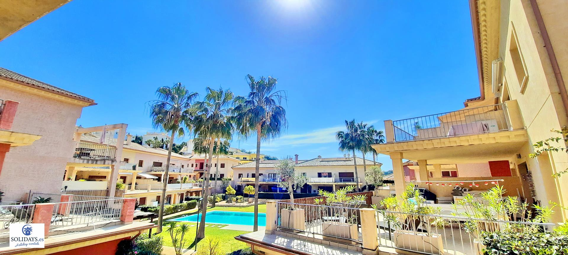 Jardines de Montemar II, Large and comfortable holiday home in Benissa, on the Costa Blanca, Spain  with communal pool for 4 persons.....