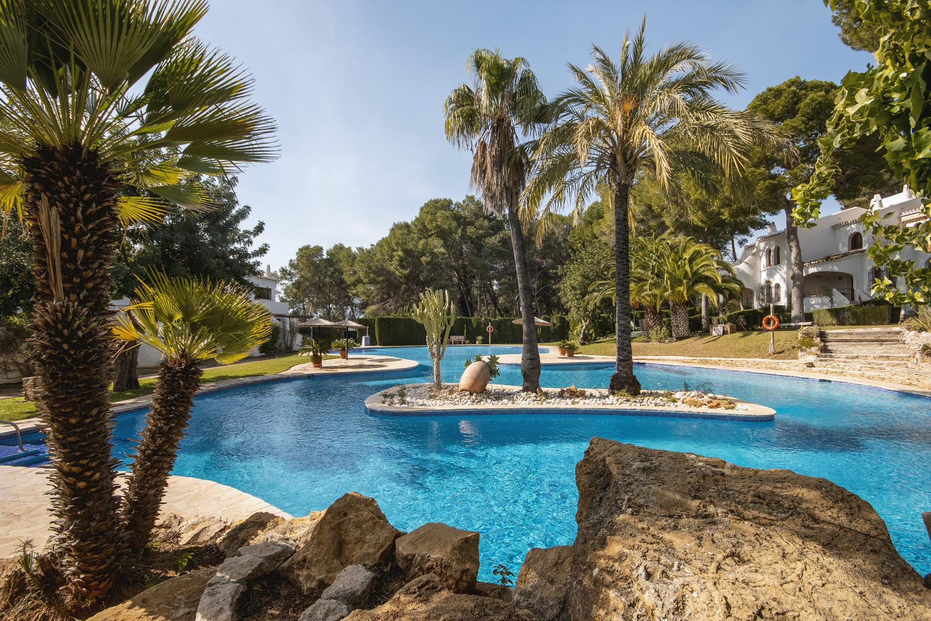 Los Lagos, Classic and comfortable apartment in Denia, on the Costa Blanca, Spain  with communal pool for 4 persons...