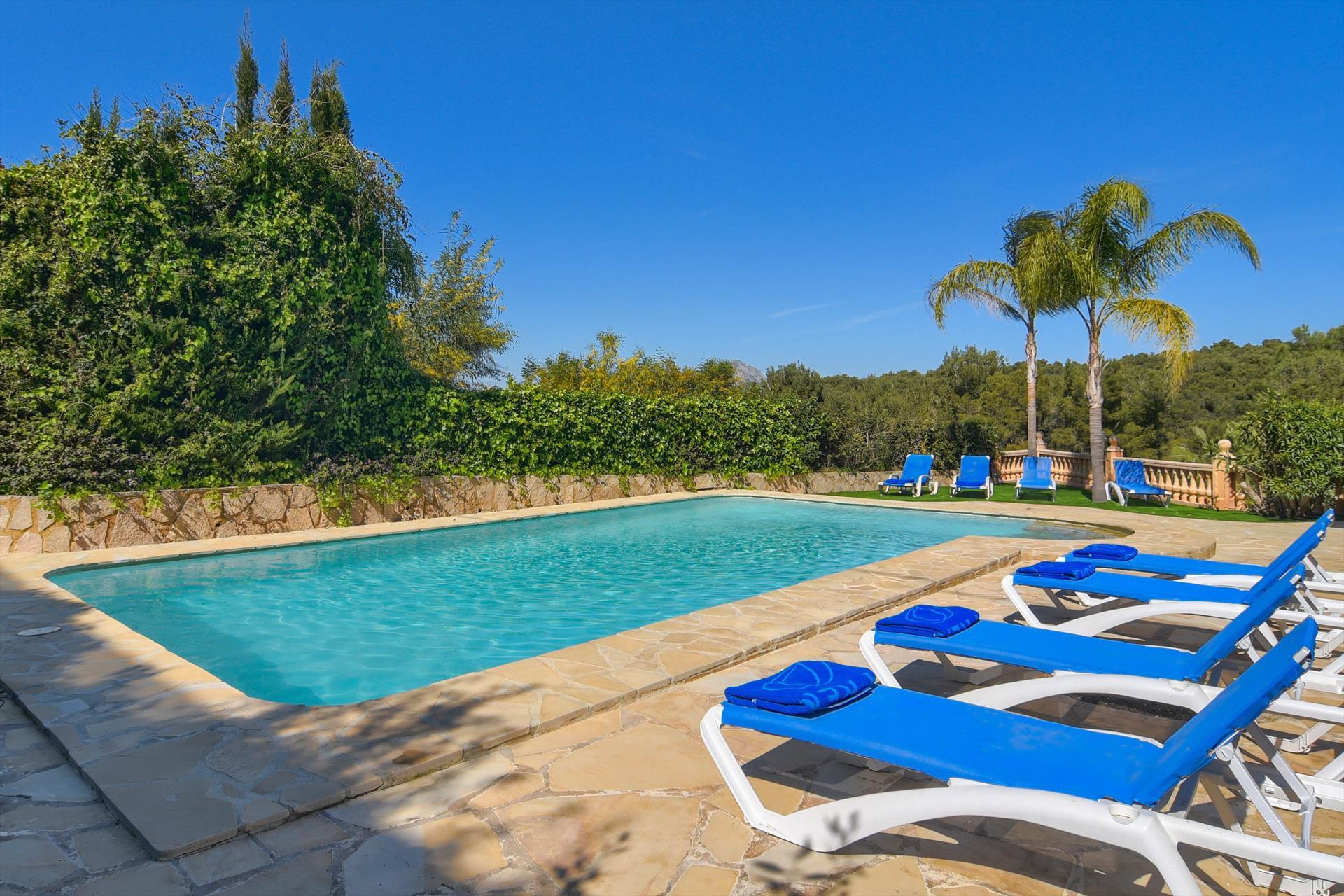 Stella Maris 8,Schöne und klassische Villa  mit privatem Pool in Javea, an der Costa Blanca, Spanien für 8 Personen.....
