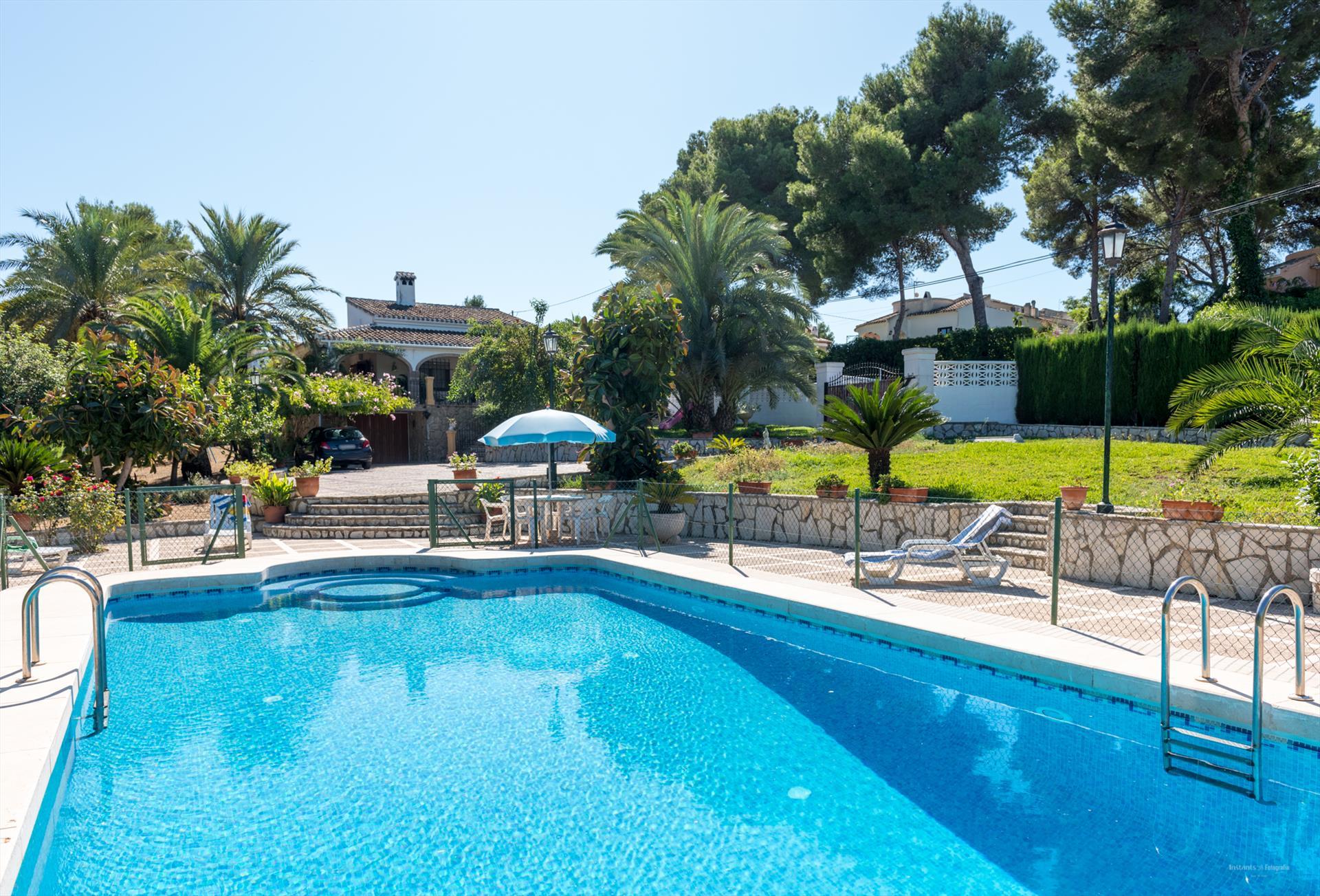 Salvia,Klassische und gemütliche Villa  mit privatem Pool in Javea, an der Costa Blanca, Spanien für 8 Personen.....