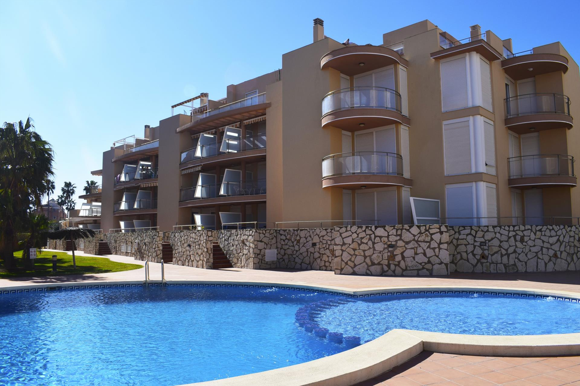 Zurich Les Marines AP2203, Wonderful and cheerful apartment in Denia, on the Costa Blanca, Spain  with communal pool for 6 persons.....