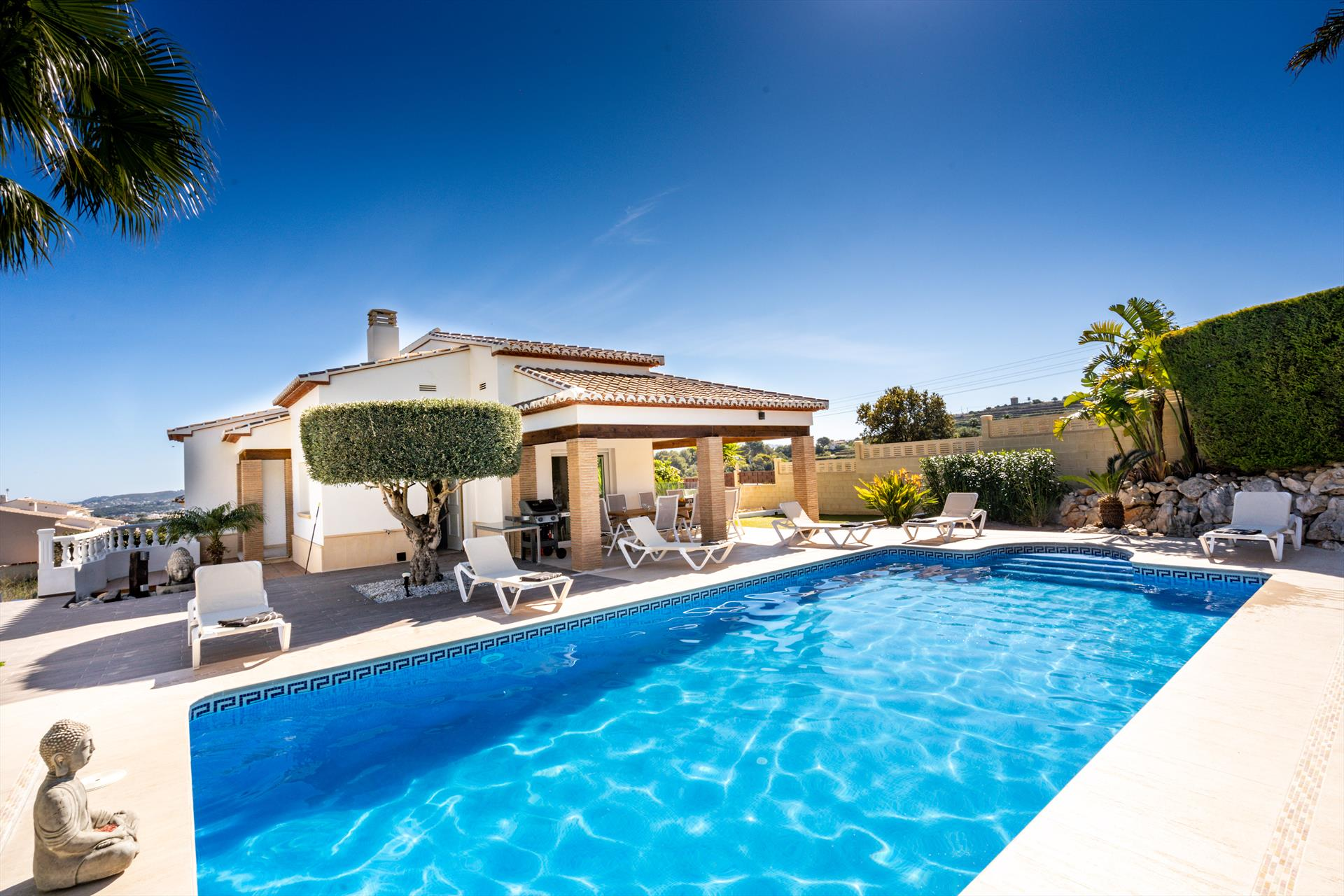 Frederique 8 pax,Large and comfortable holiday home in Benitachell, on the Costa Blanca, Spain  with private pool for 8 persons...