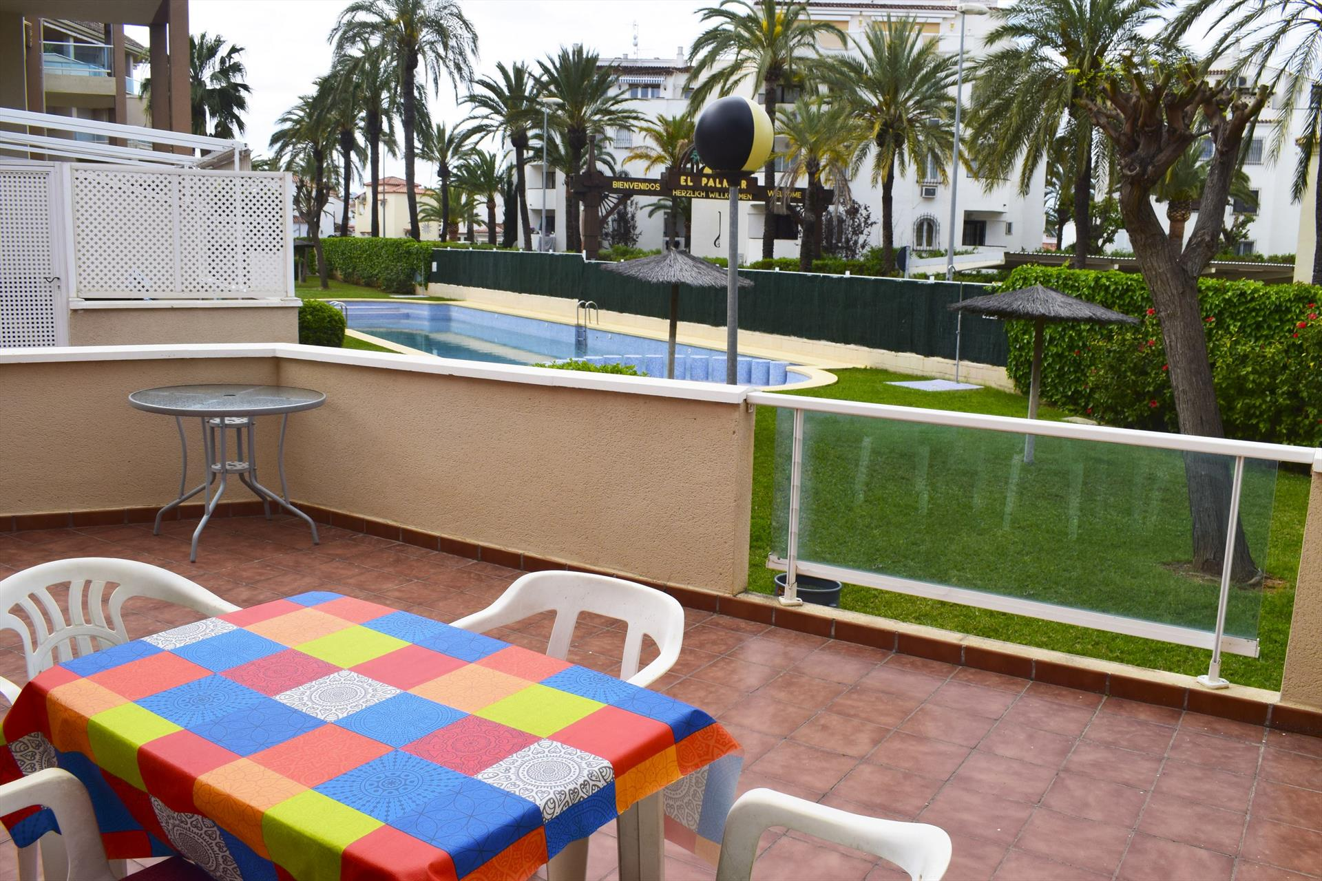 Puerta del Palmar Les Marines PB2204,Wonderful and cheerful apartment in Denia, on the Costa Blanca, Spain  with communal pool for 6 persons.....